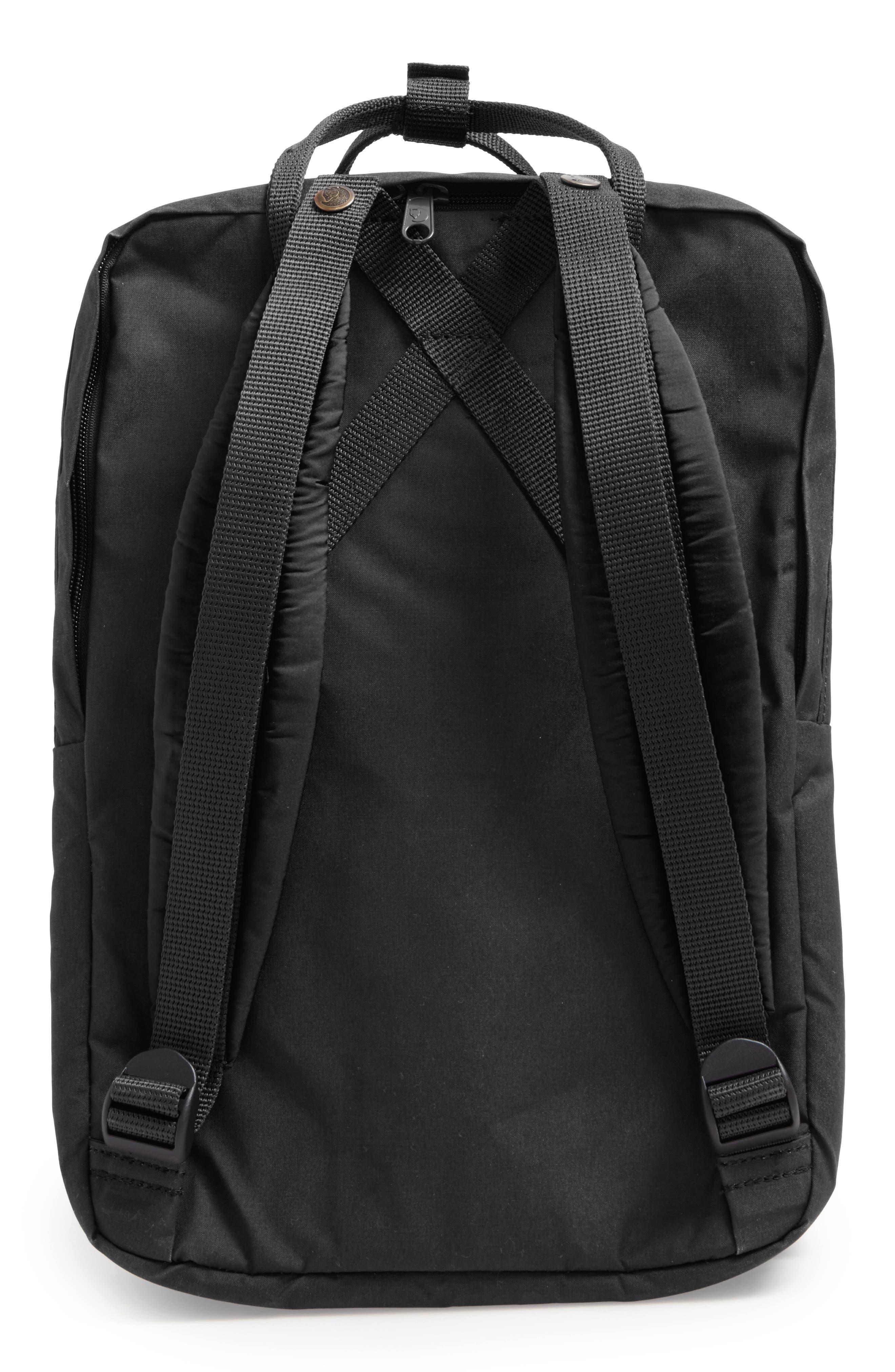 FJÄLLRÄVEN, 'Kånken' Laptop Backpack, Alternate thumbnail 2, color, BLACK