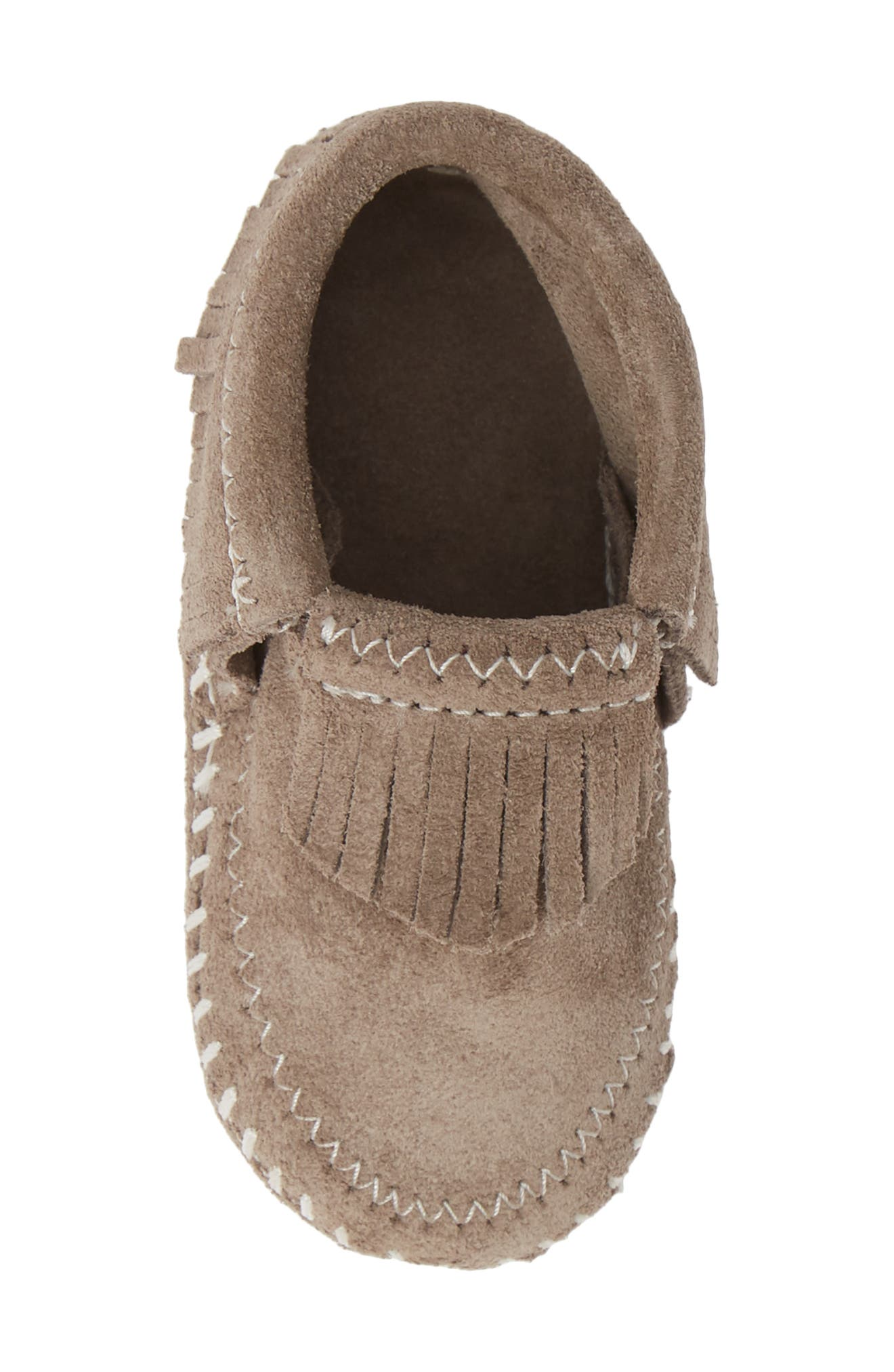MINNETONKA, 'Riley' Bootie, Alternate thumbnail 5, color, GREY