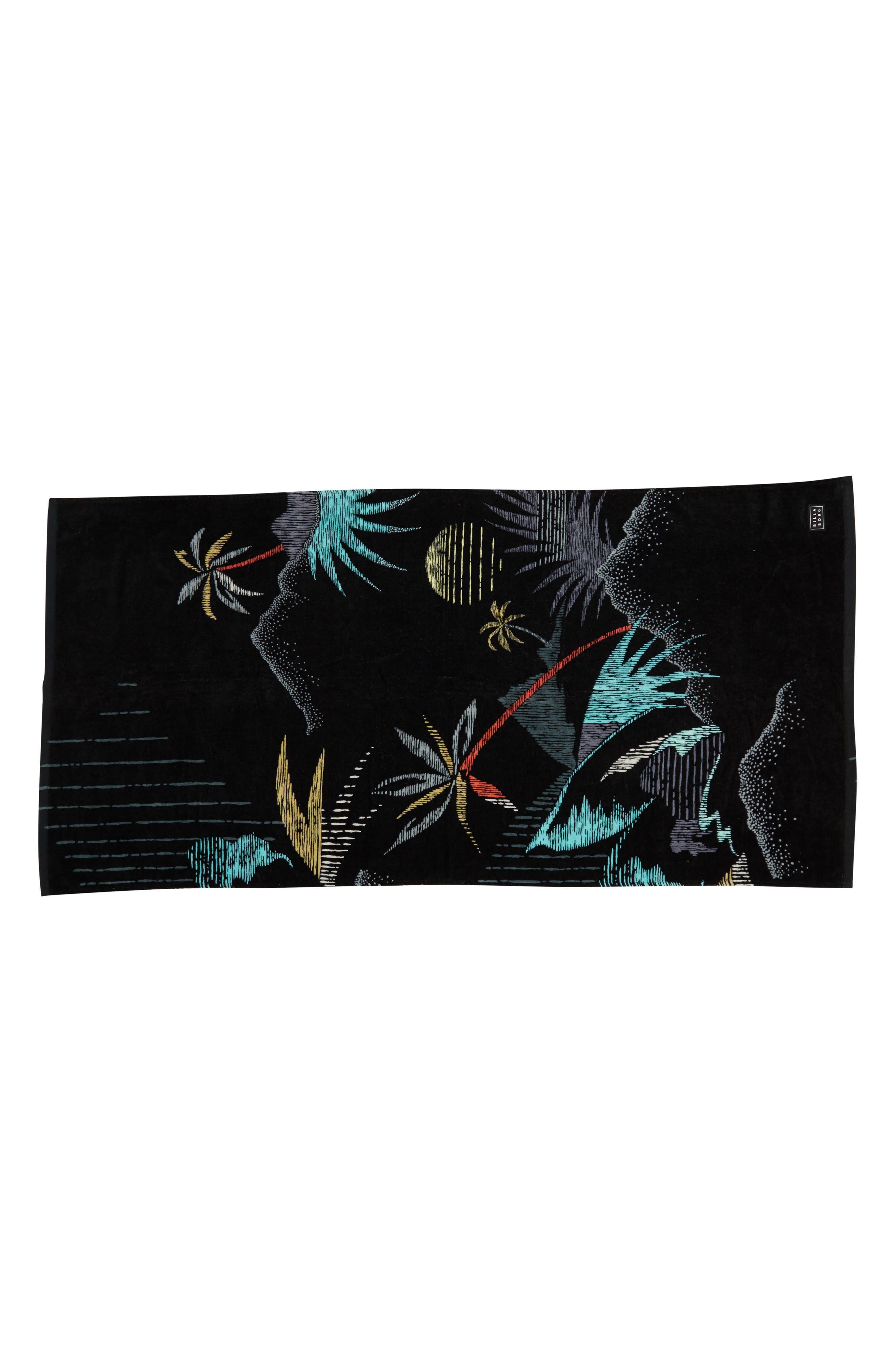 BILLABONG Waves Beach Towel, Main, color, 001