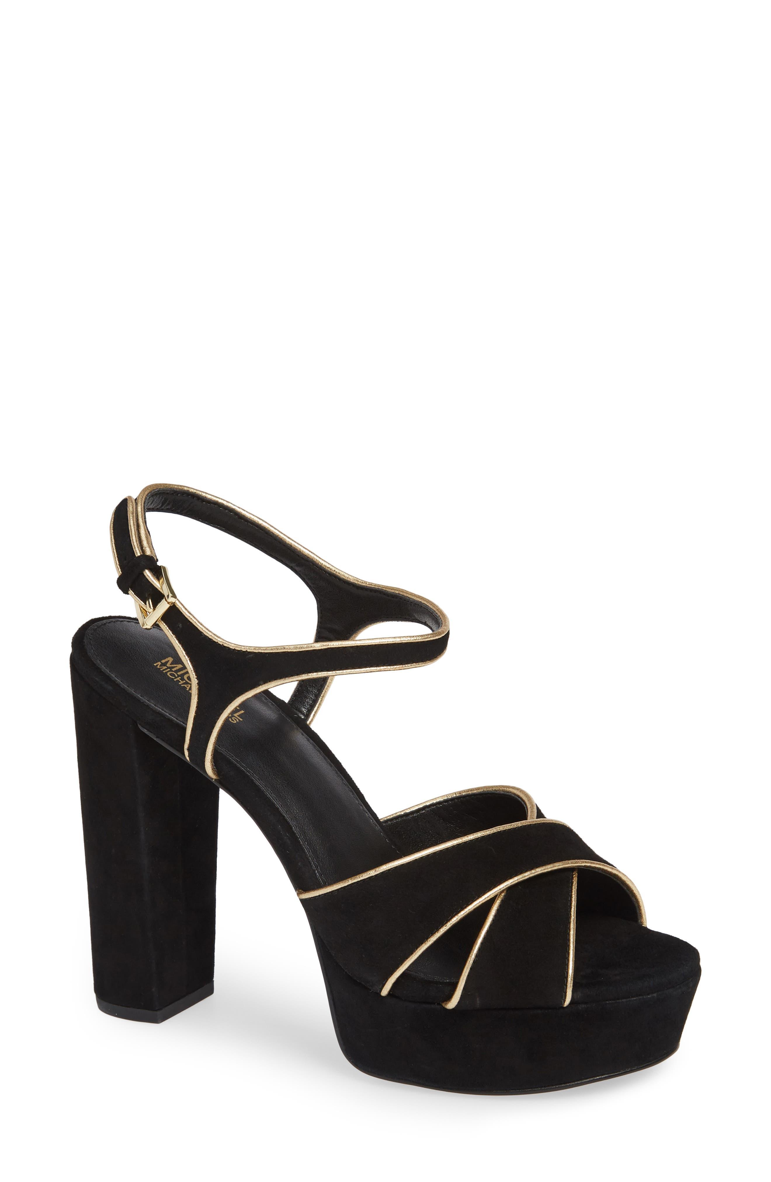 MICHAEL MICHAEL KORS Lexie Platform Sandal, Main, color, 001
