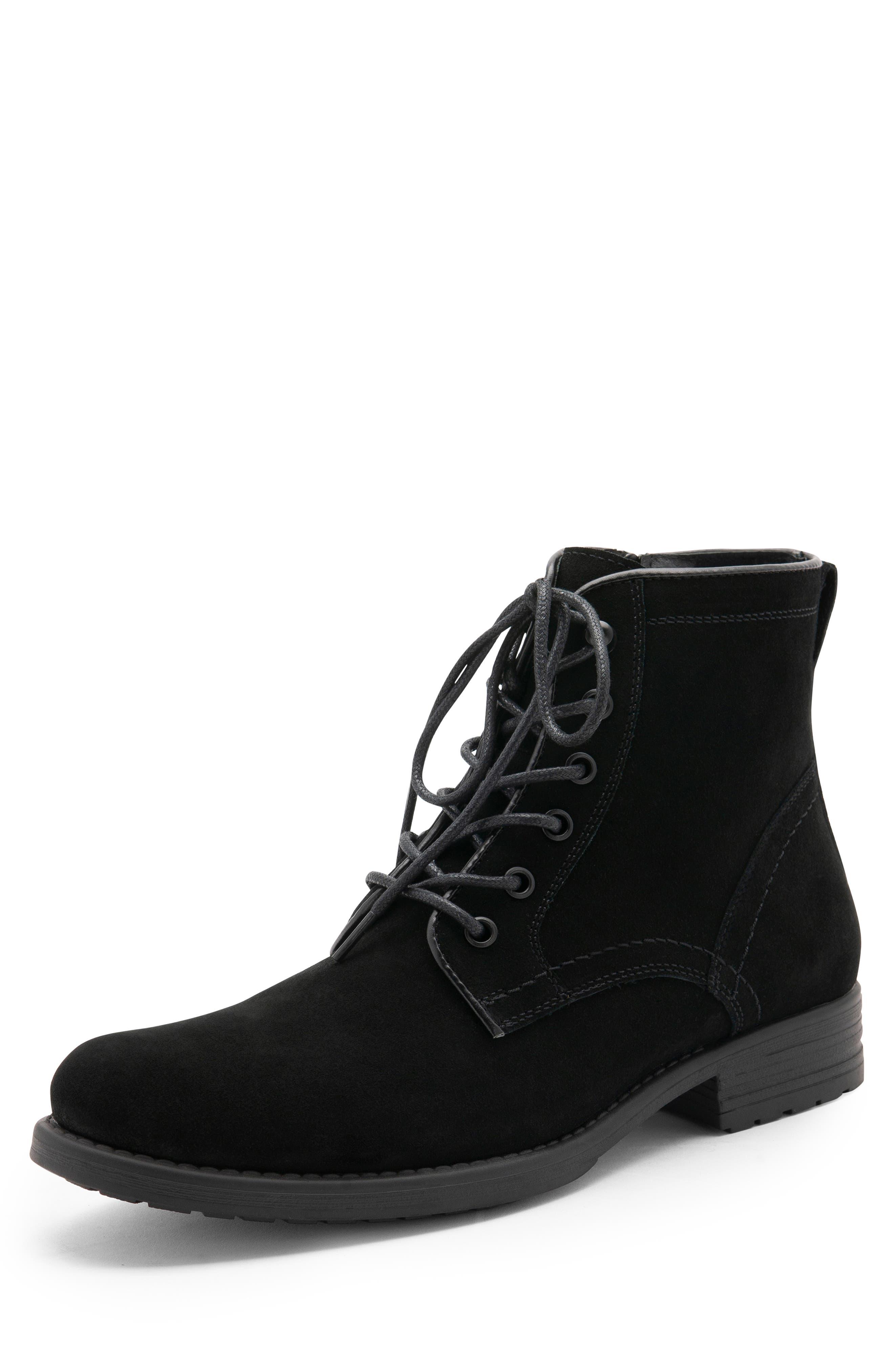 BLONDO, Peter Waterproof Plain Toe Boot, Alternate thumbnail 7, color, BLACK SUEDE