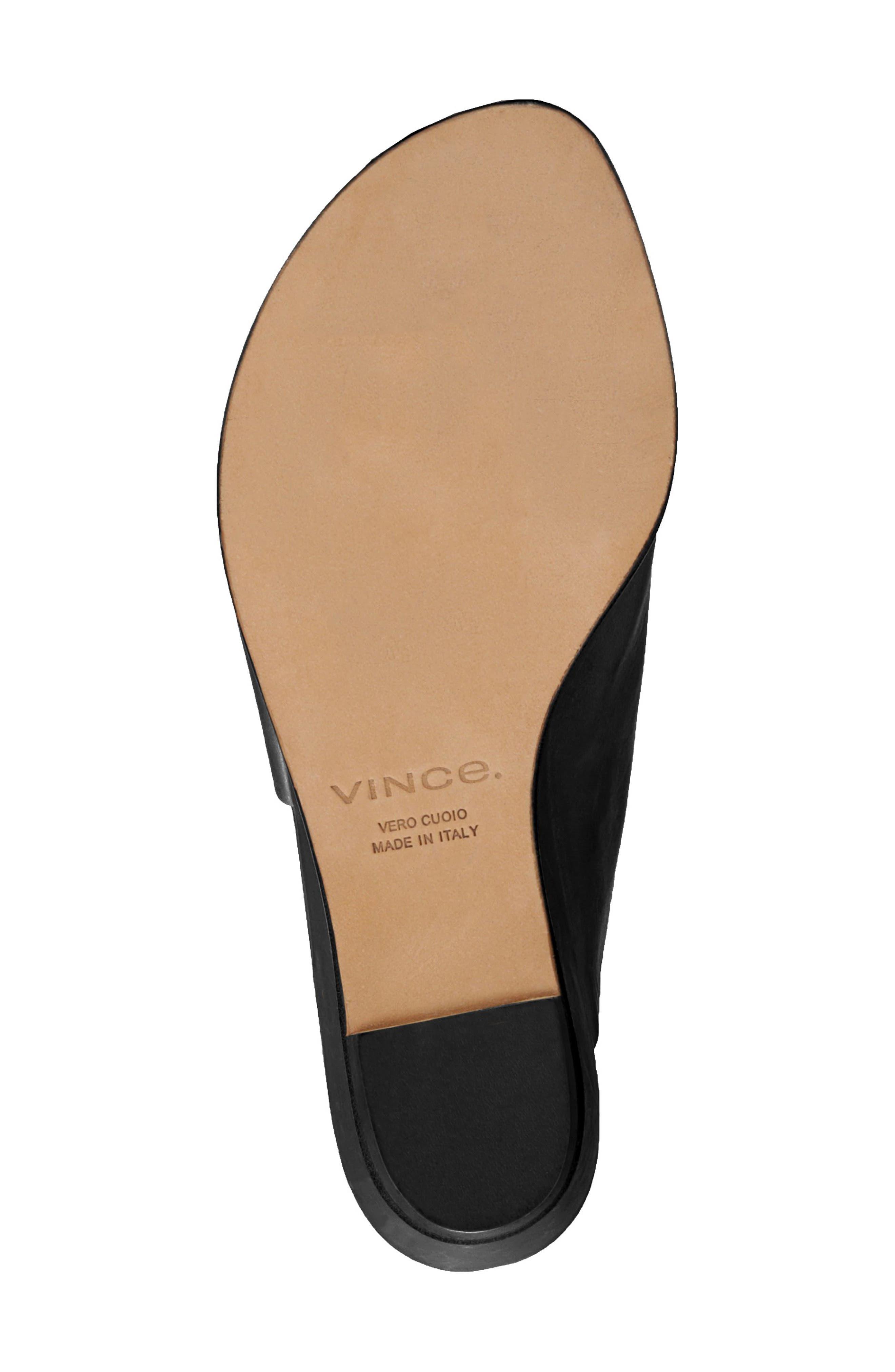 VINCE, Duvall Asymmetrical Wedge Sandal, Alternate thumbnail 6, color, BLACK