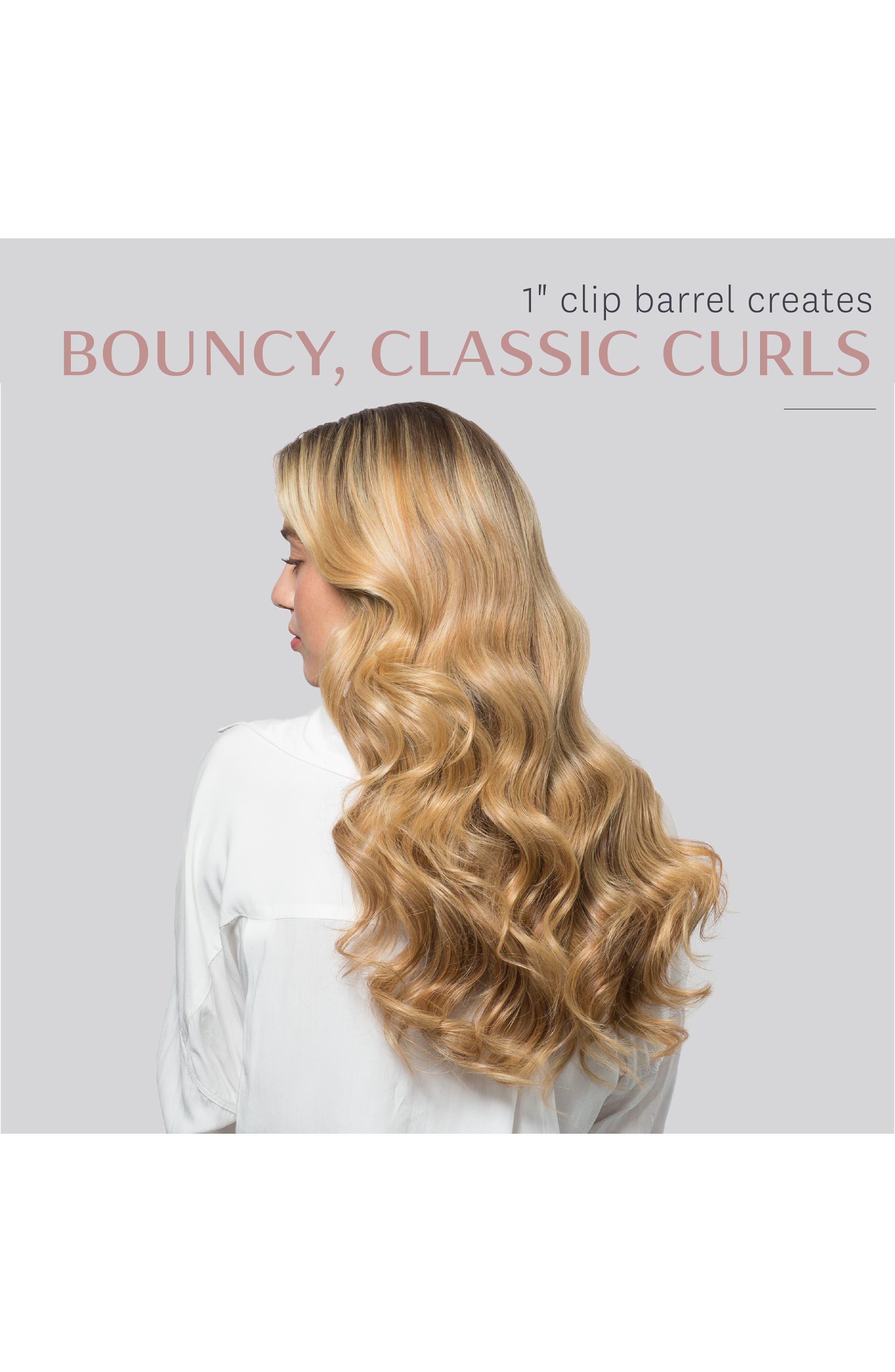 T3, Defined Curls 1-Inch Interchangeable Clip Curling Iron Barrel, Alternate thumbnail 7, color, NO COLOR