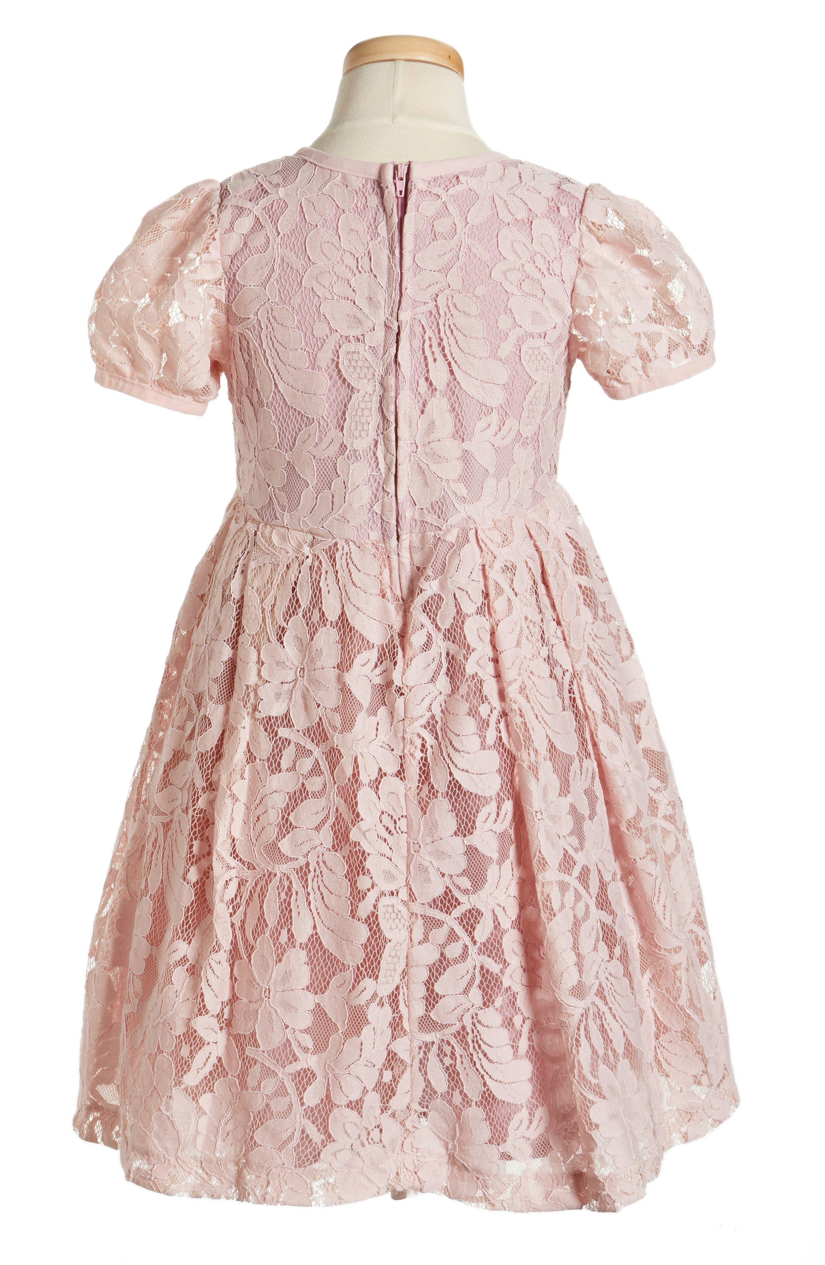 POPATU, Lace Dress, Alternate thumbnail 2, color, DUSTY PINK