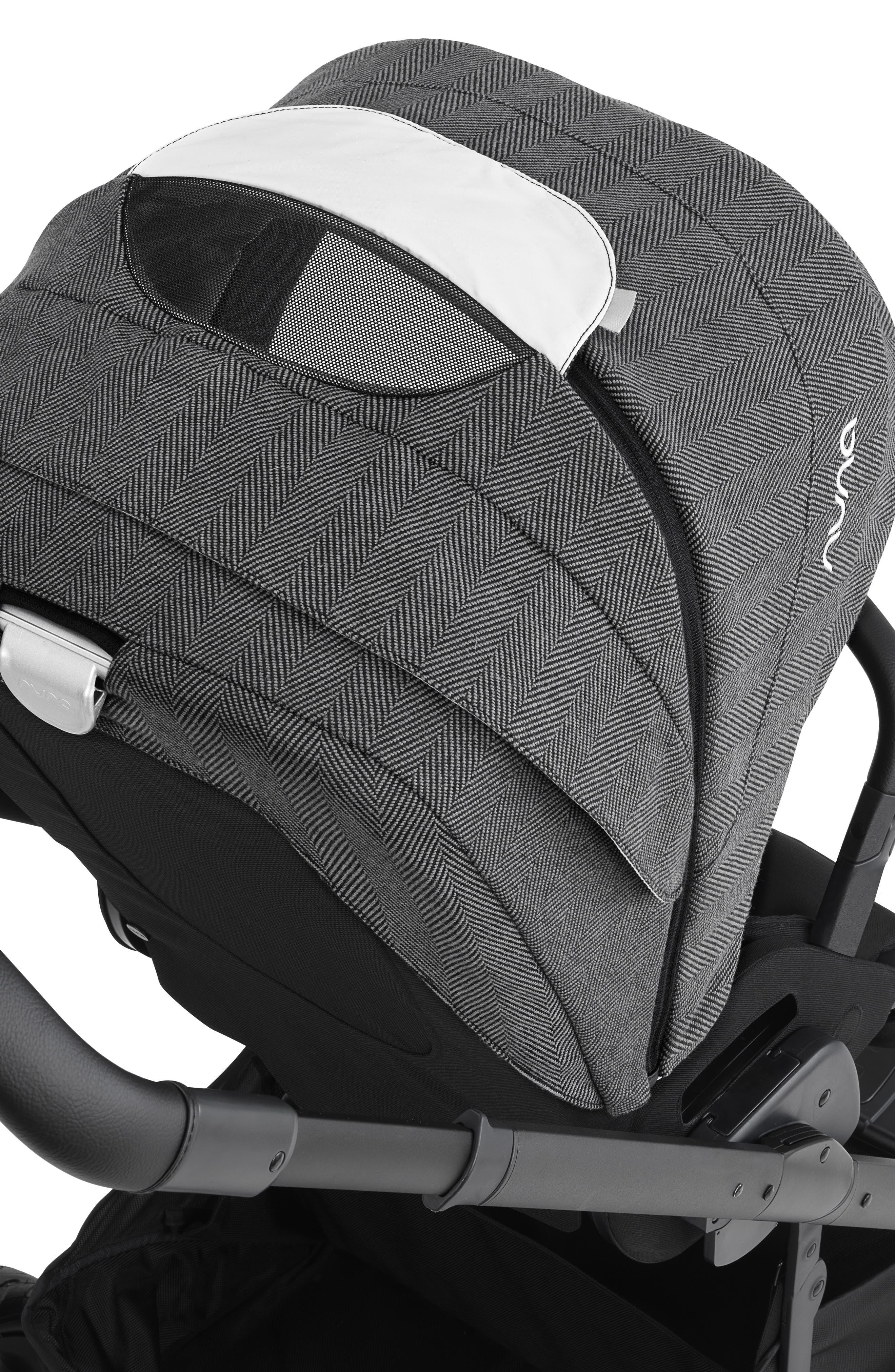 NUNA, 2019 MIXX<sup>™</sup> Stroller & PIPA<sup>™</sup> Lite LX Infant Car Seat Set Travel System, Alternate thumbnail 12, color, VERONA CAVIAR