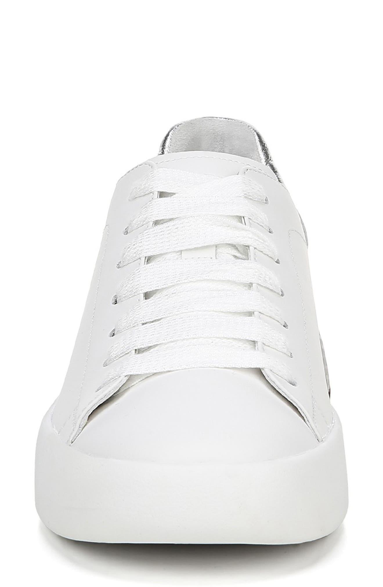 VIA SPIGA, Parrel Sneaker, Alternate thumbnail 4, color, PORCELAIN/ SILVER
