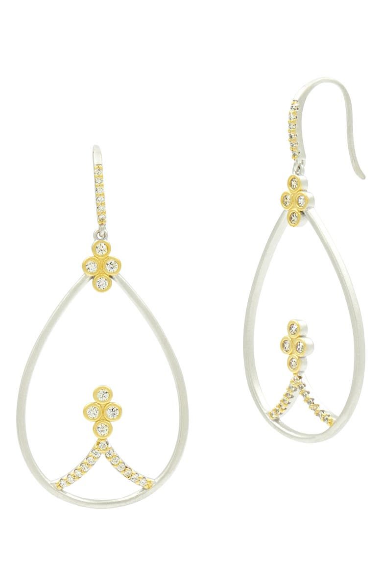 Freida Rothman Accessories FLEUR BLOOM TEARDROP EARRINGS