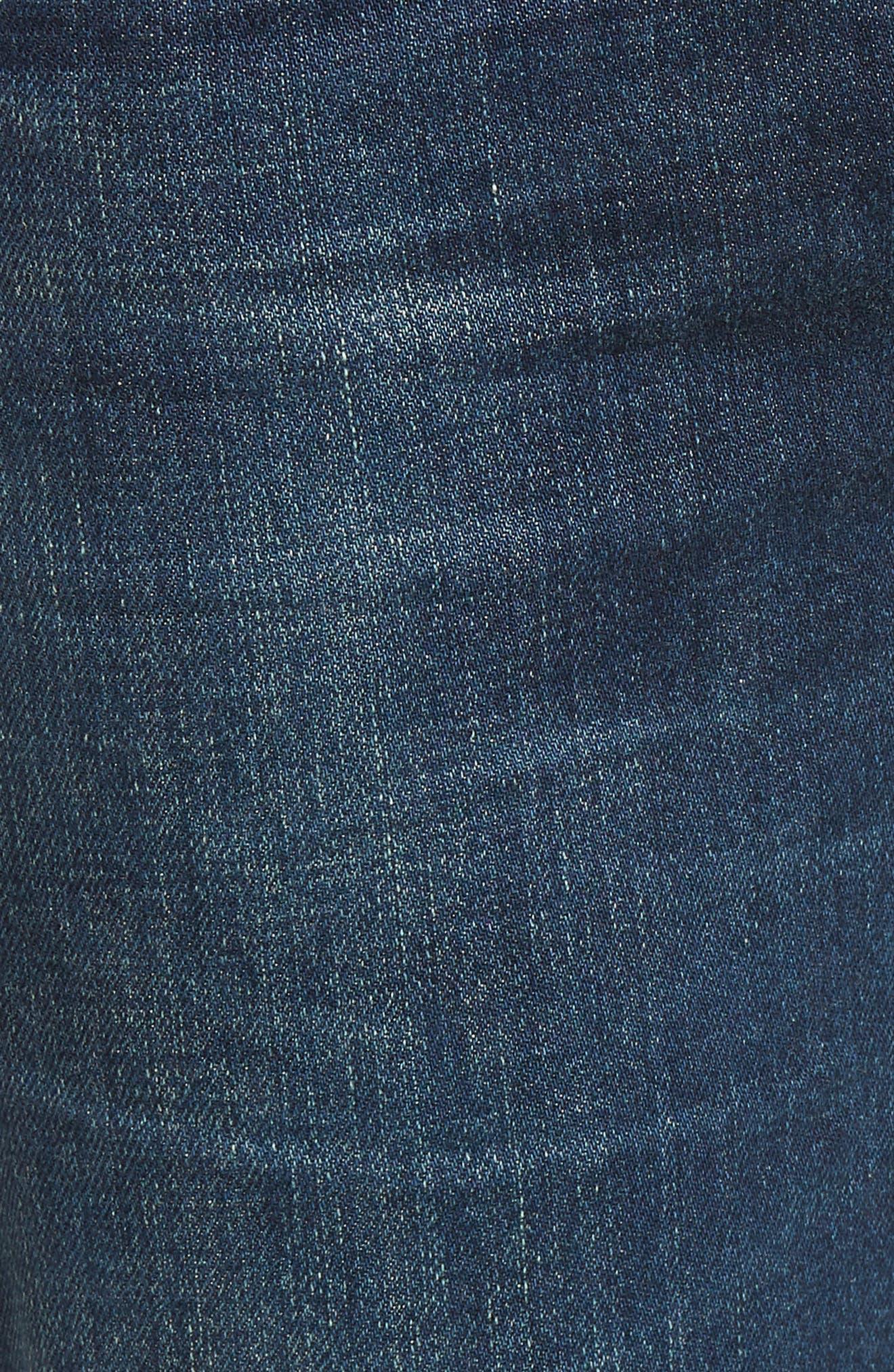CITIZENS OF HUMANITY, Emerson Crop Slim Boyfriend Jeans, Alternate thumbnail 6, color, WHITAKER