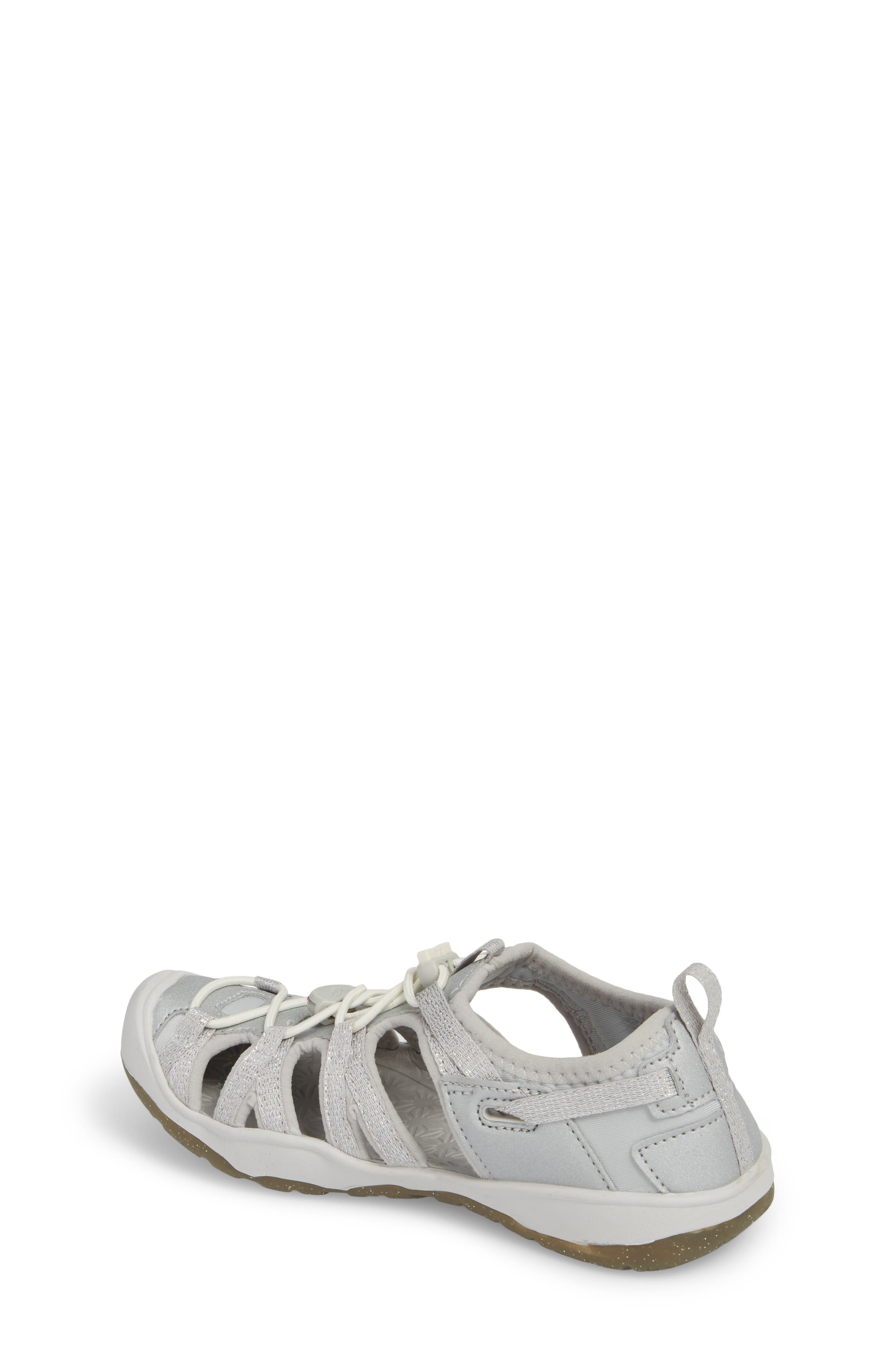 KEEN, Moxie Water Friendly Sandal, Alternate thumbnail 2, color, SILVER