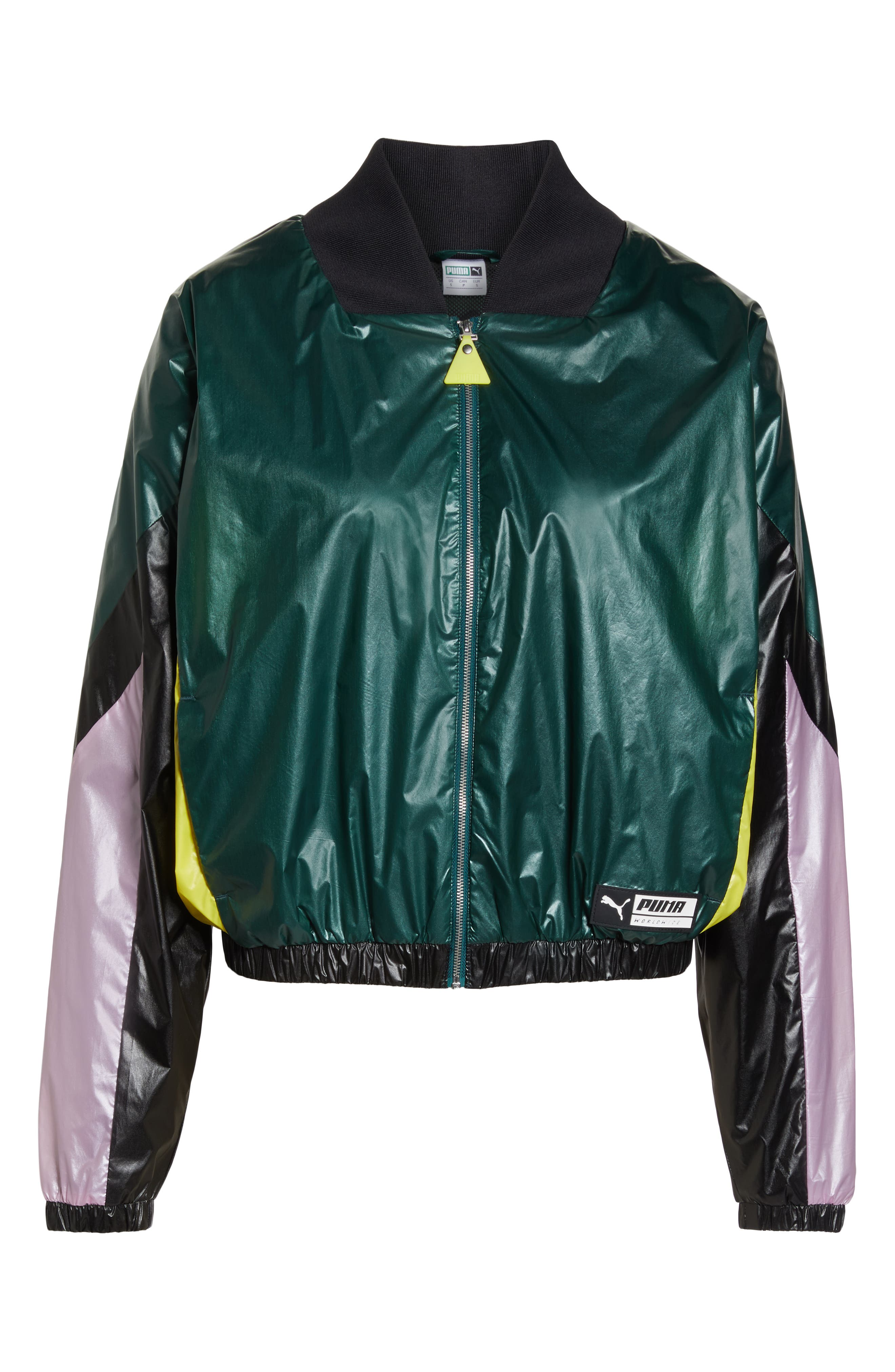 PUMA, TZ Jacket, Alternate thumbnail 7, color, 001