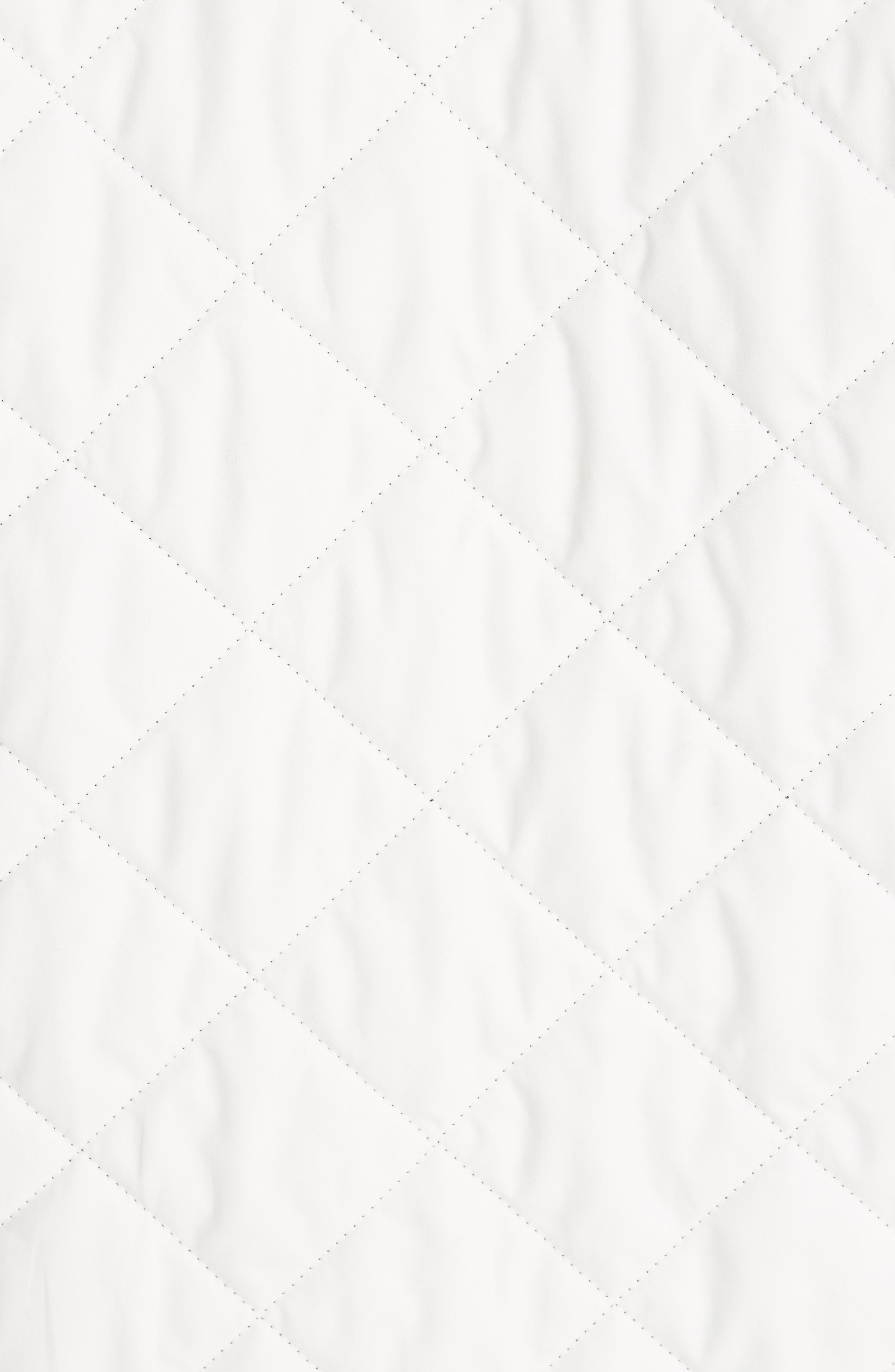 BURBERRY, Roxwell Embroidered Archive Logo Quilted Coat, Alternate thumbnail 6, color, 100