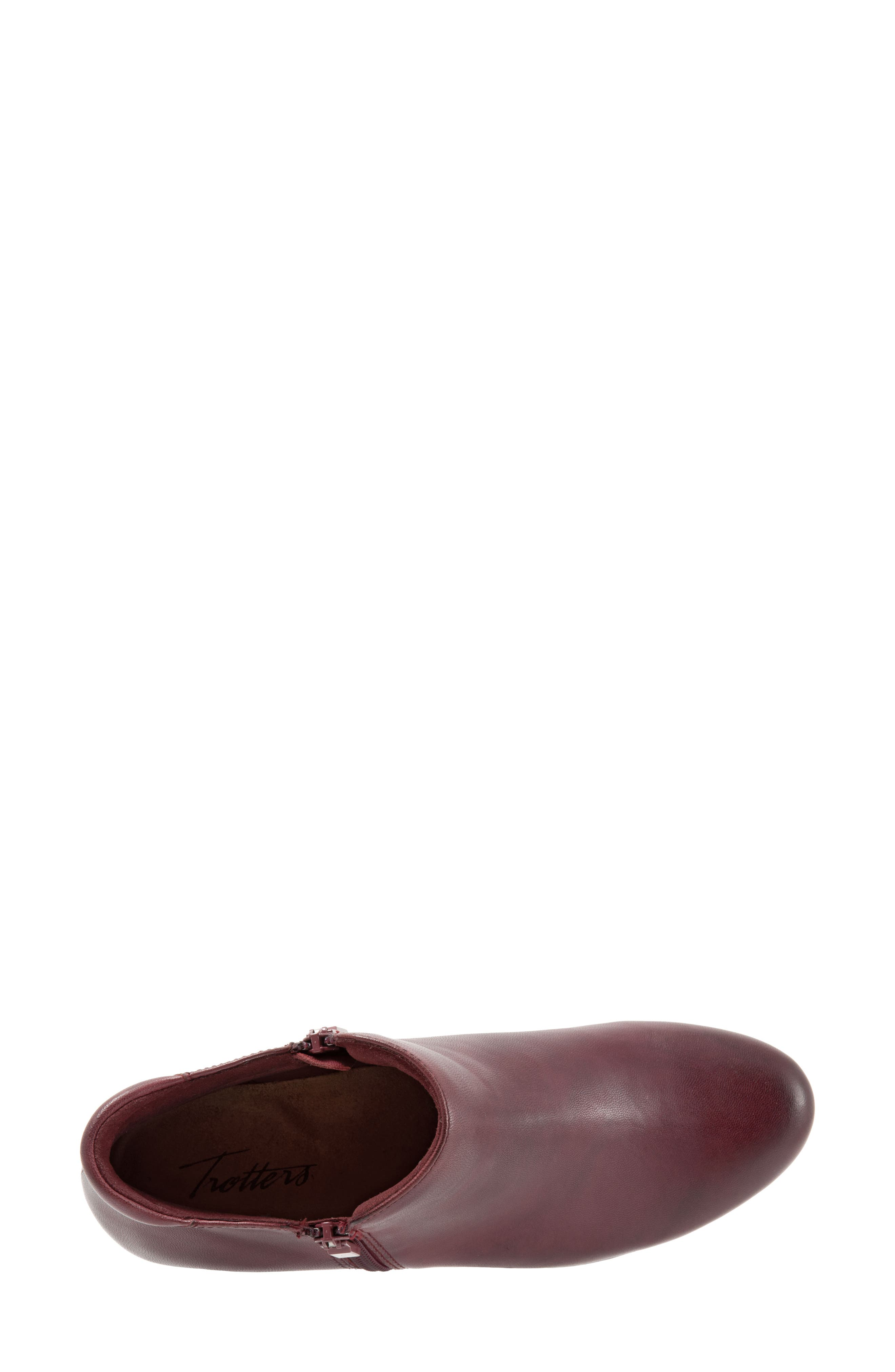 TROTTERS, Major Bootie, Alternate thumbnail 5, color, DARK RED LEATHER