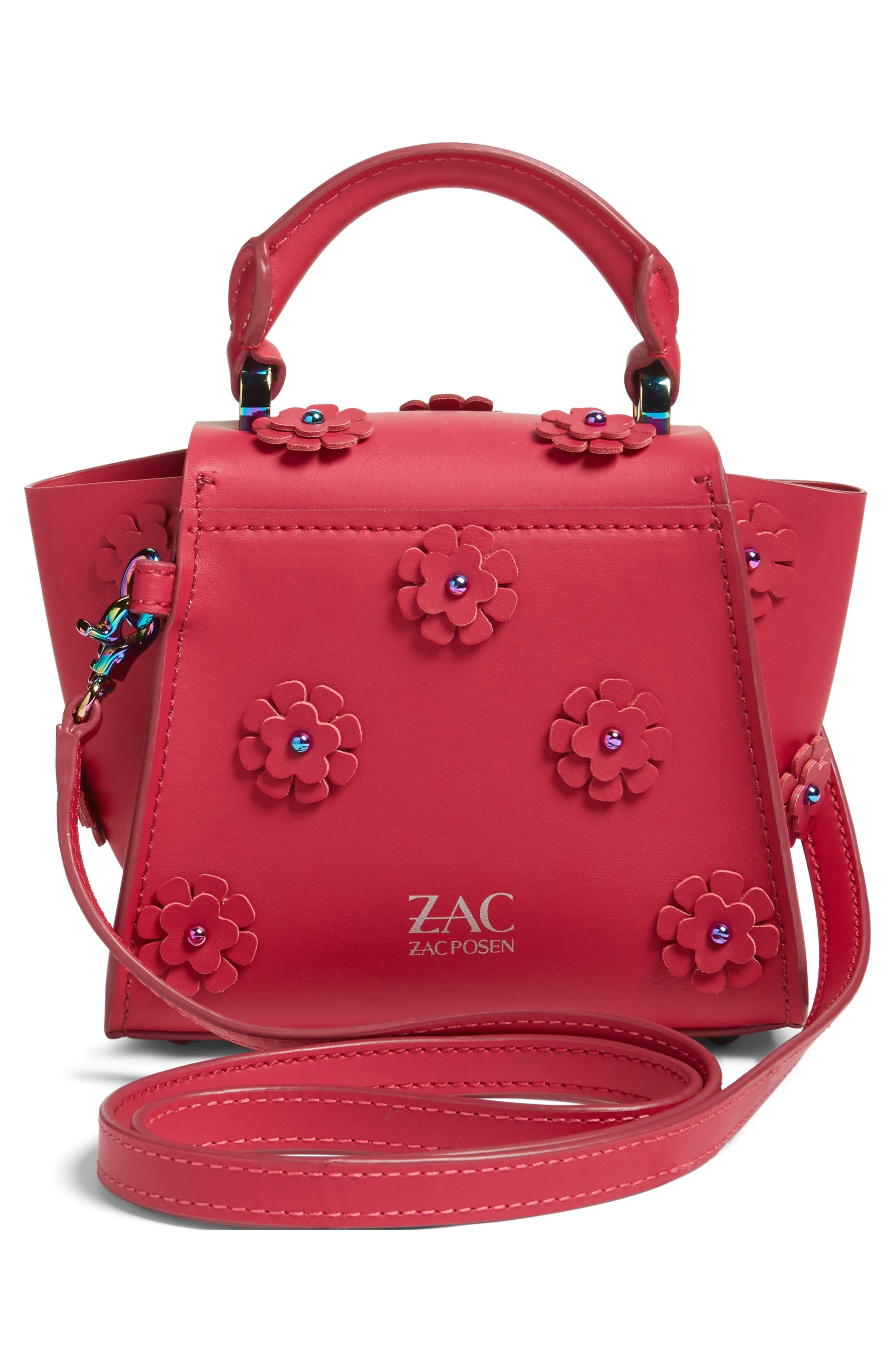 ZAC ZAC POSEN, Mini Eartha Iconic Top Handle Leather Satchel, Alternate thumbnail 2, color, 651