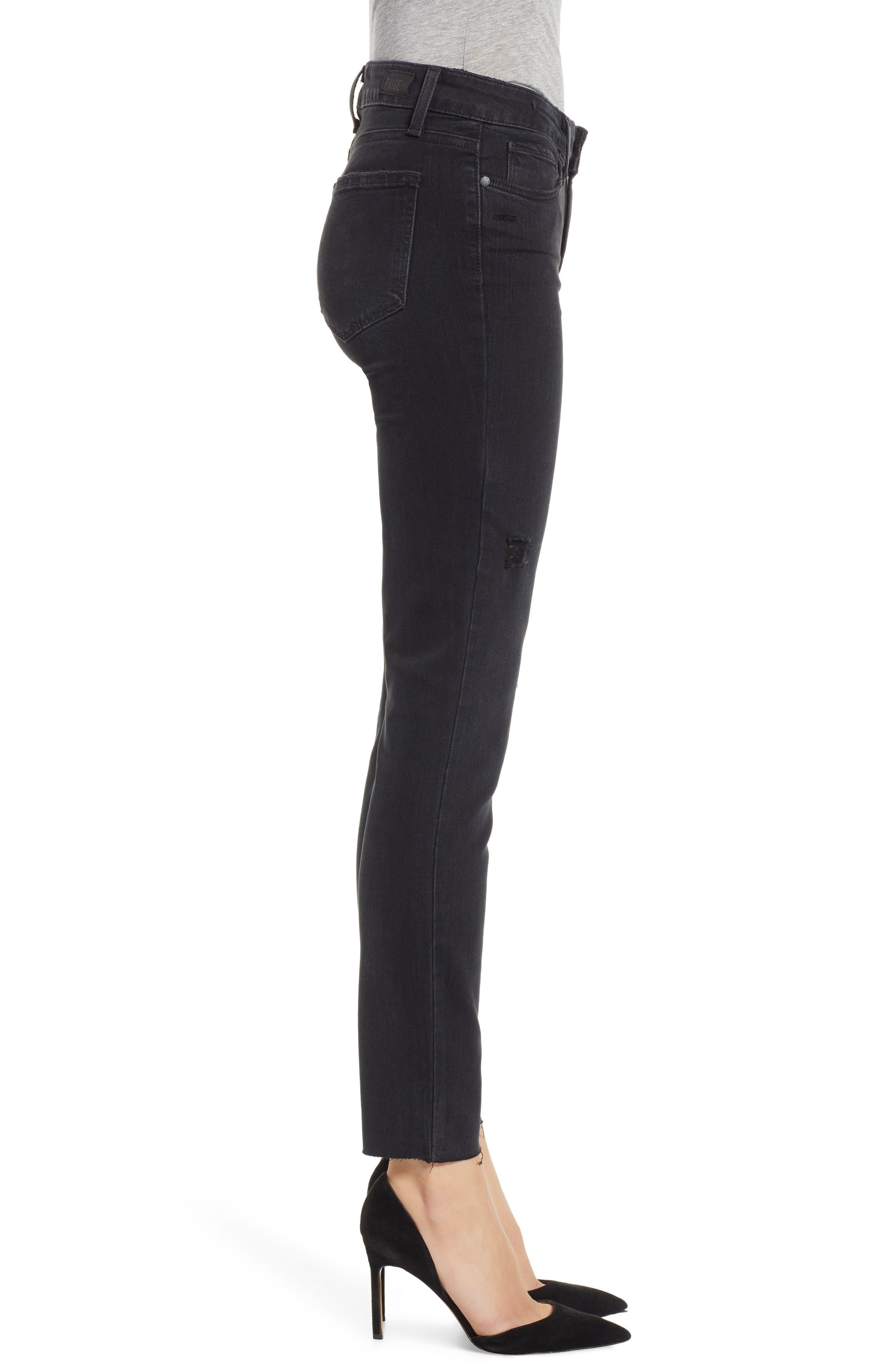 PAIGE, Transcend - Verdugo Ankle Skinny Jeans, Alternate thumbnail 4, color, 001