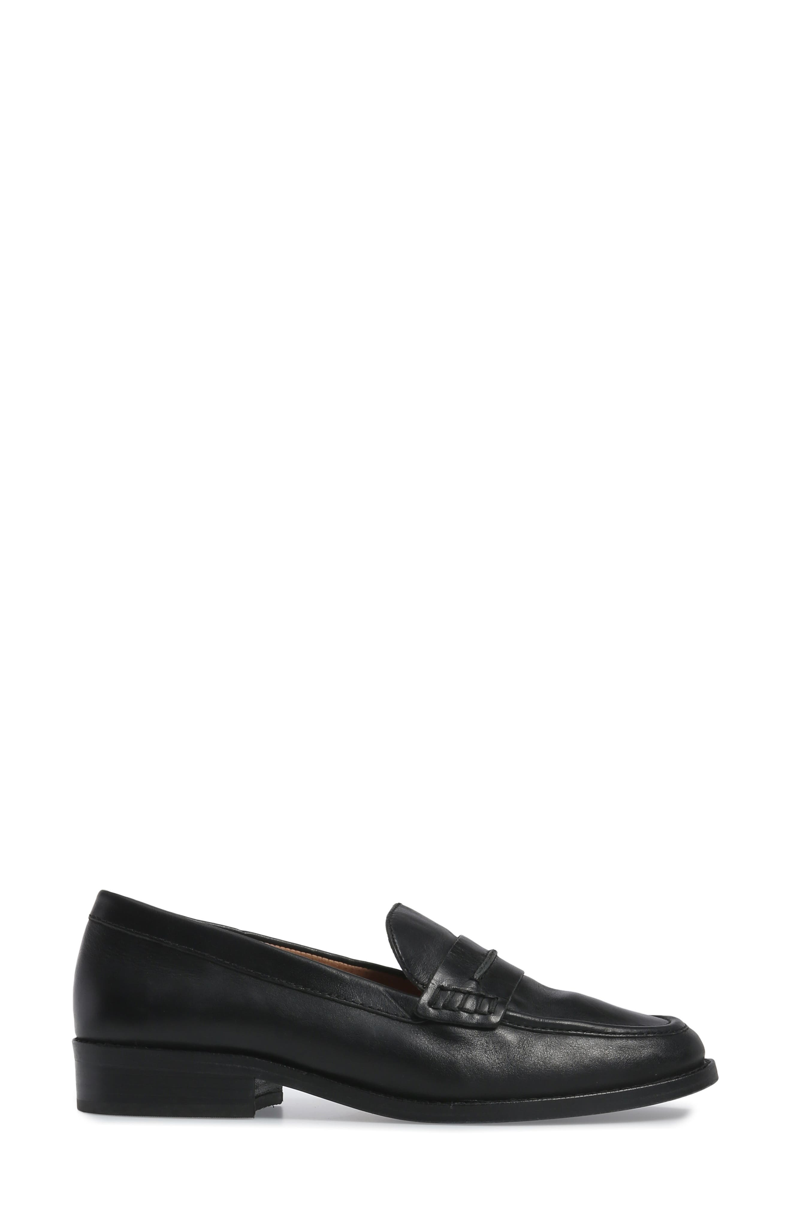 MADEWELL, The Elinor Loafer, Alternate thumbnail 3, color, 001