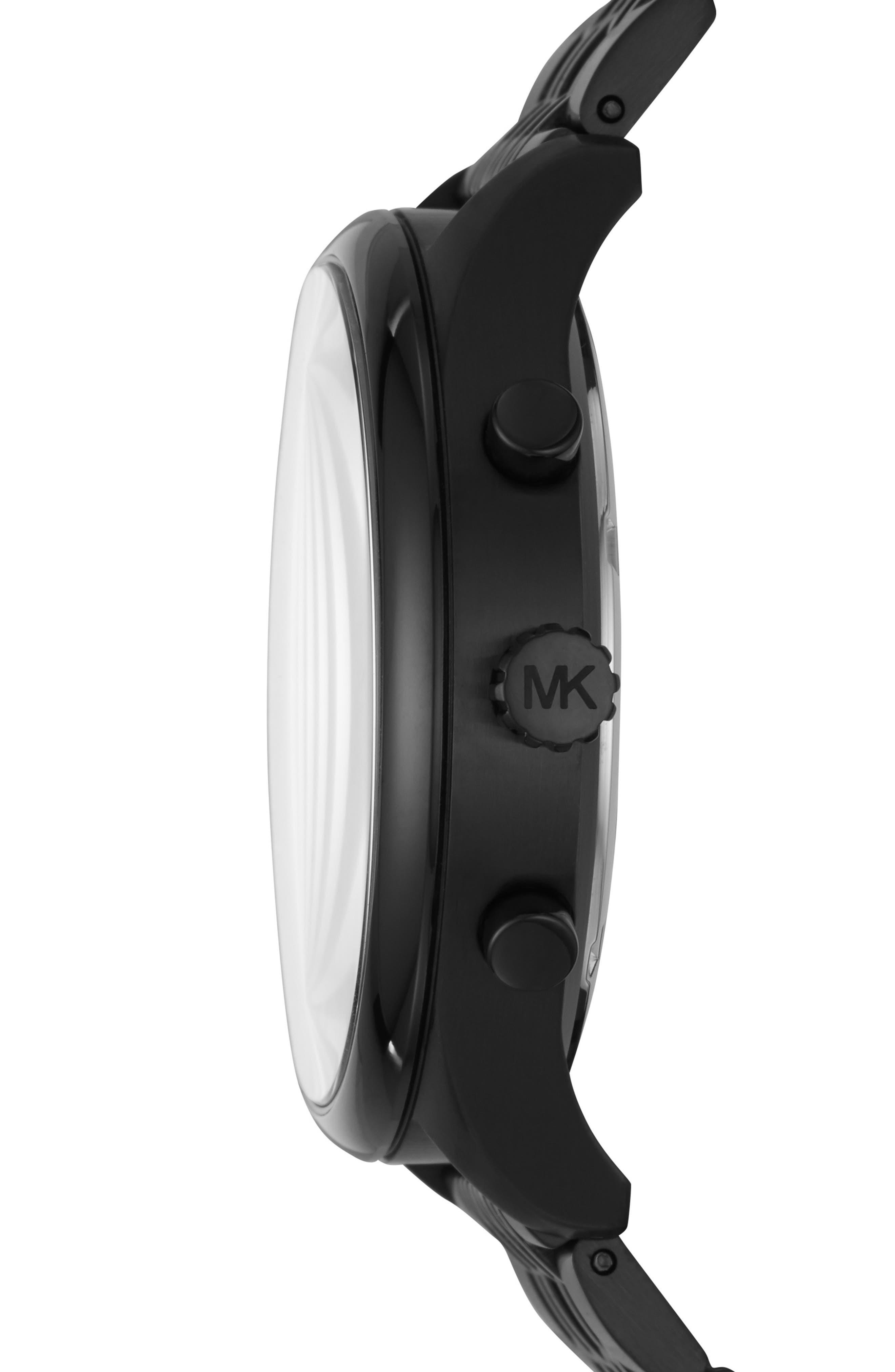 MICHAEL KORS, Merrick Bracelet Watch, 42mm, Alternate thumbnail 2, color, BLACK