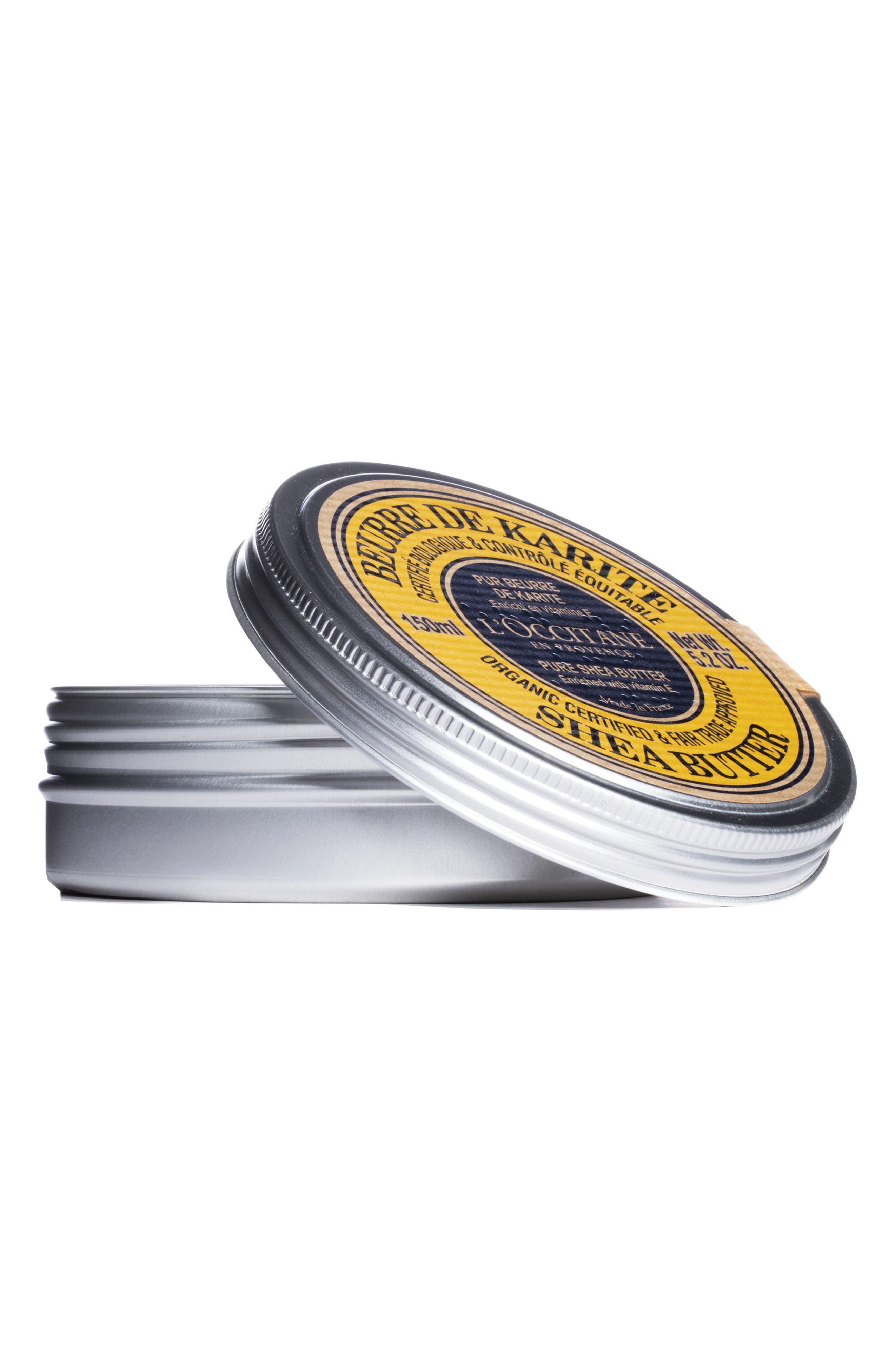 L'OCCITANE, Certified Organic Pure Shea Butter, Alternate thumbnail 3, color, NO COLOR