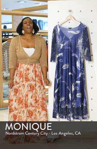 Print Charmeuse A-Line Dress, sales video thumbnail