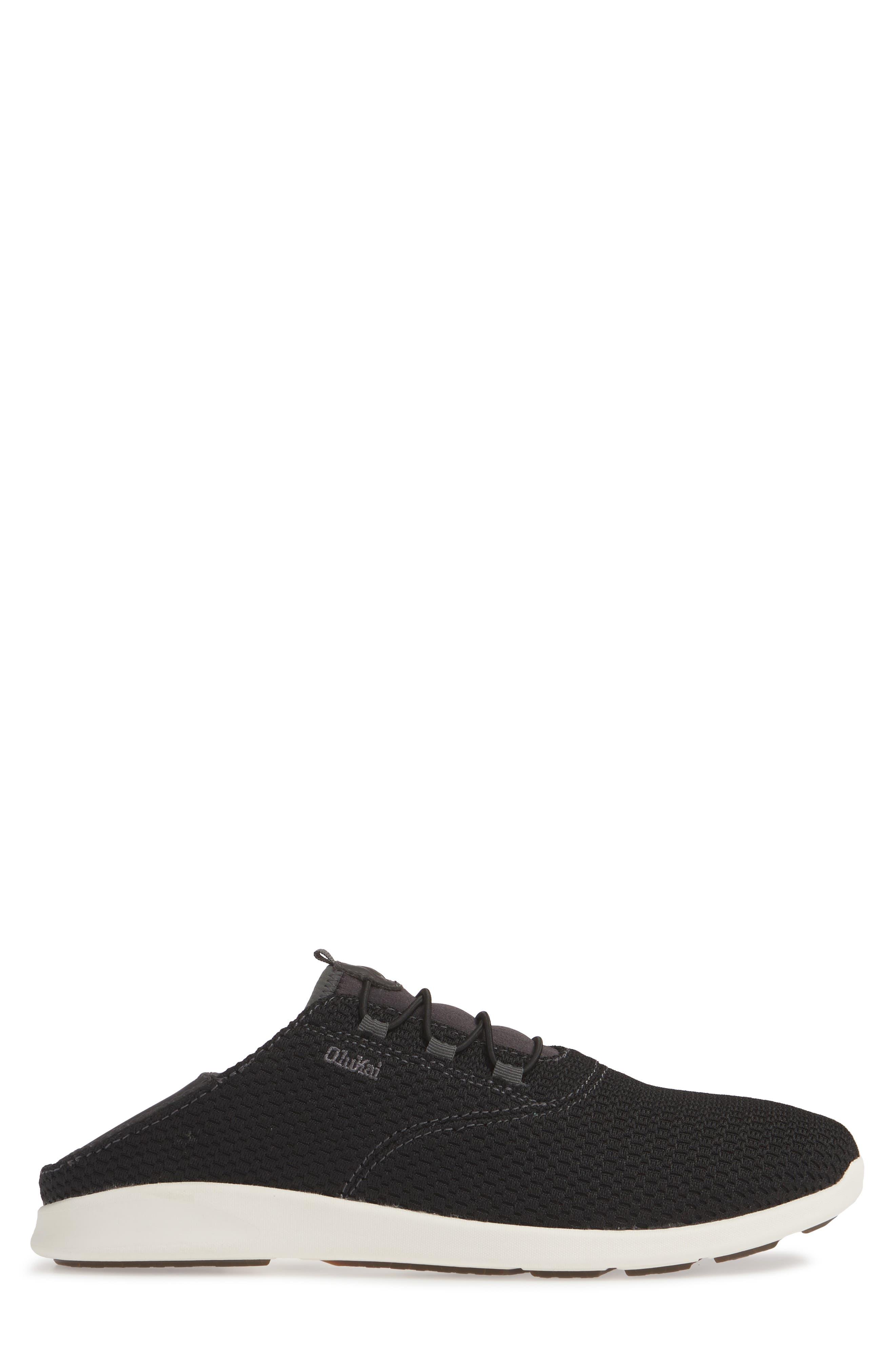 OLUKAI, Alapa Li Sneaker, Alternate thumbnail 4, color, BLACK/ DARK SHADOW MESH