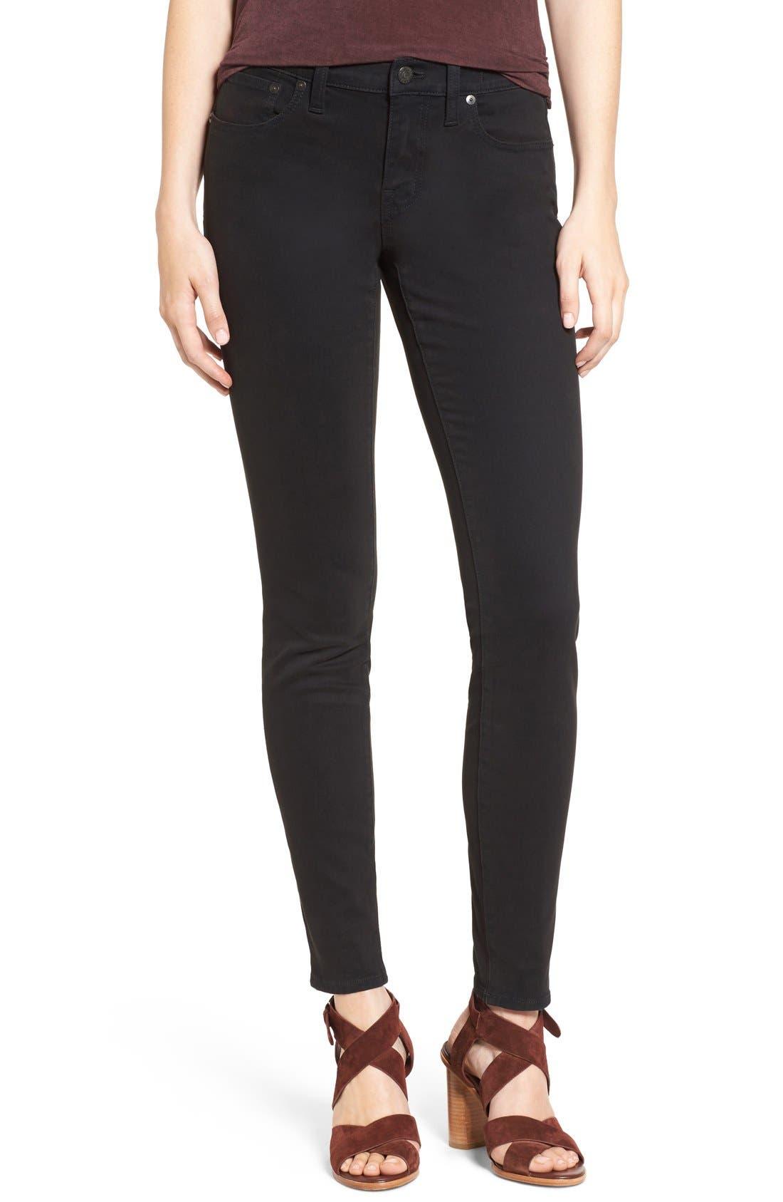 MADEWELL Garment Dyed Skinny Jeans, Main, color, 001