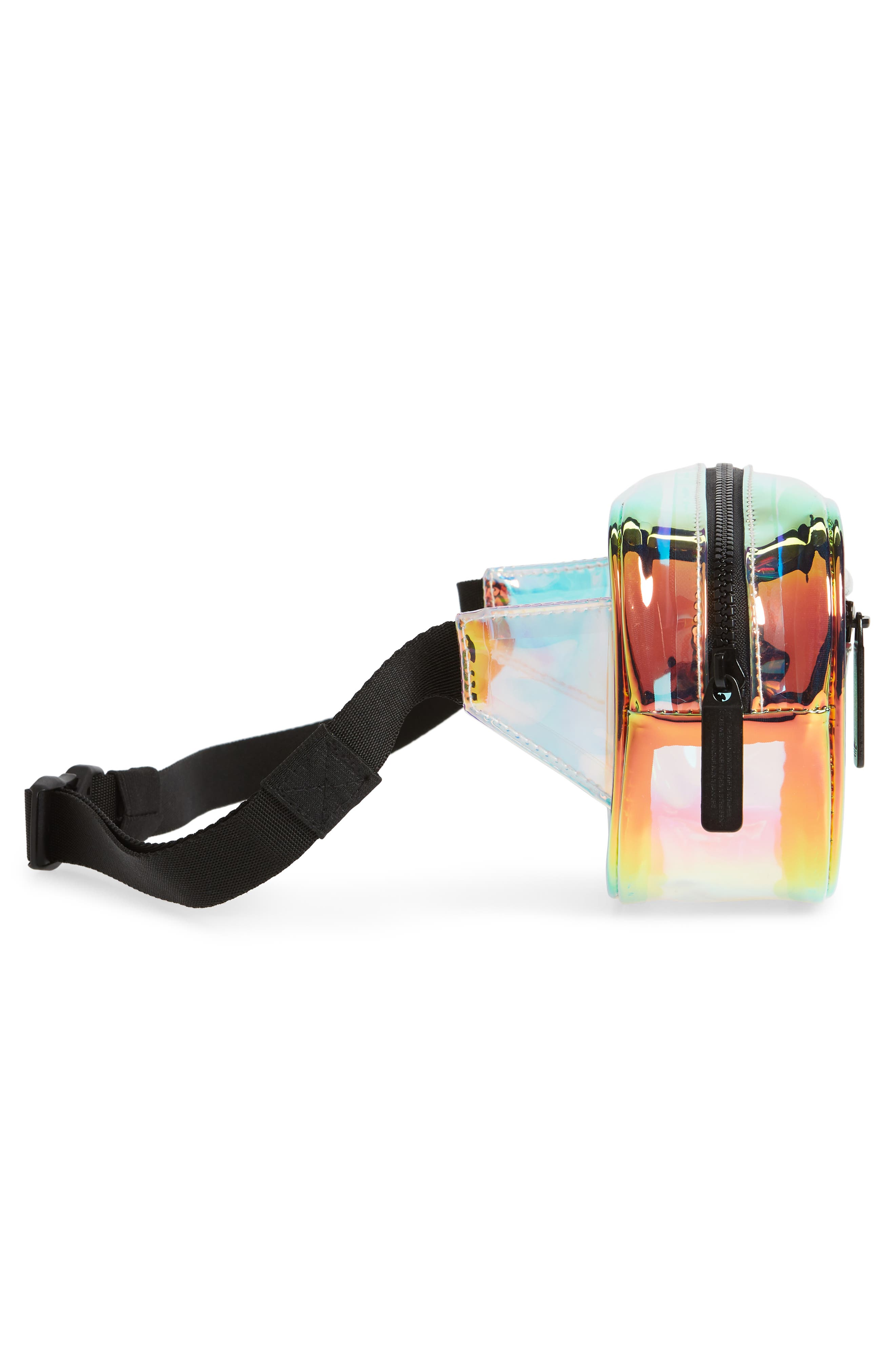 ADIDAS, Ori Holographic Clear Belt Bag, Alternate thumbnail 6, color, 100