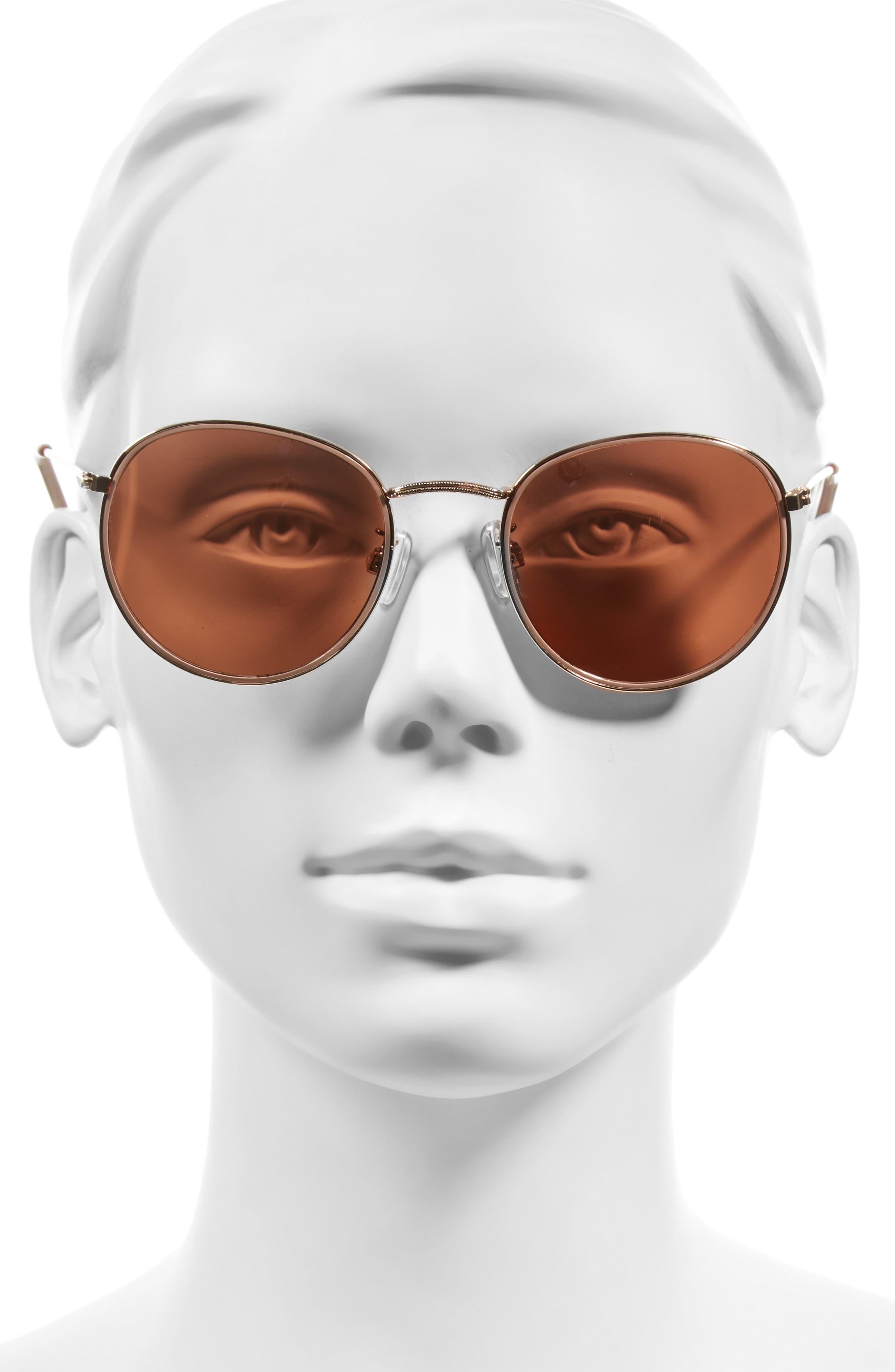 BP., 50mm Round Aviator Sunglasses, Alternate thumbnail 2, color, 220