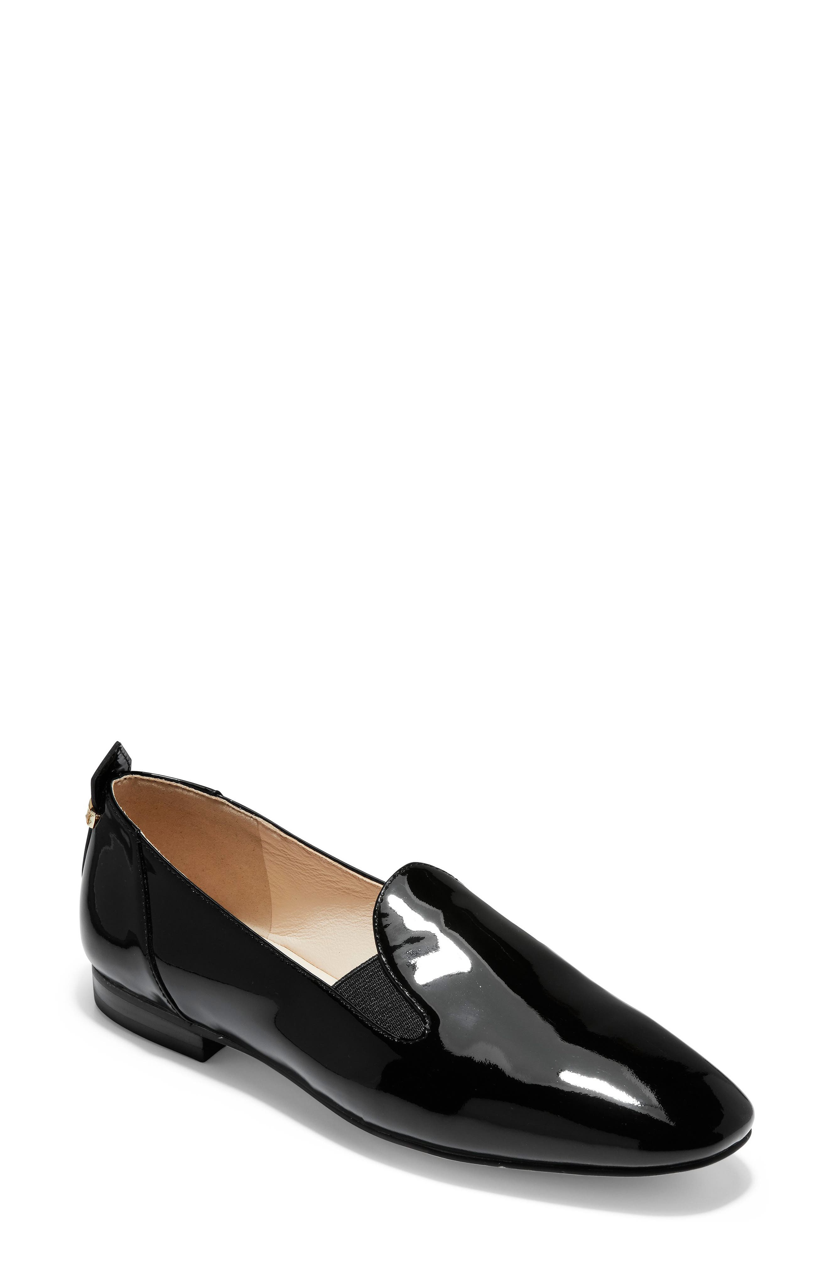 COLE HAAN, Portia Loafer, Main thumbnail 1, color, BLACK PATENT LEATHER