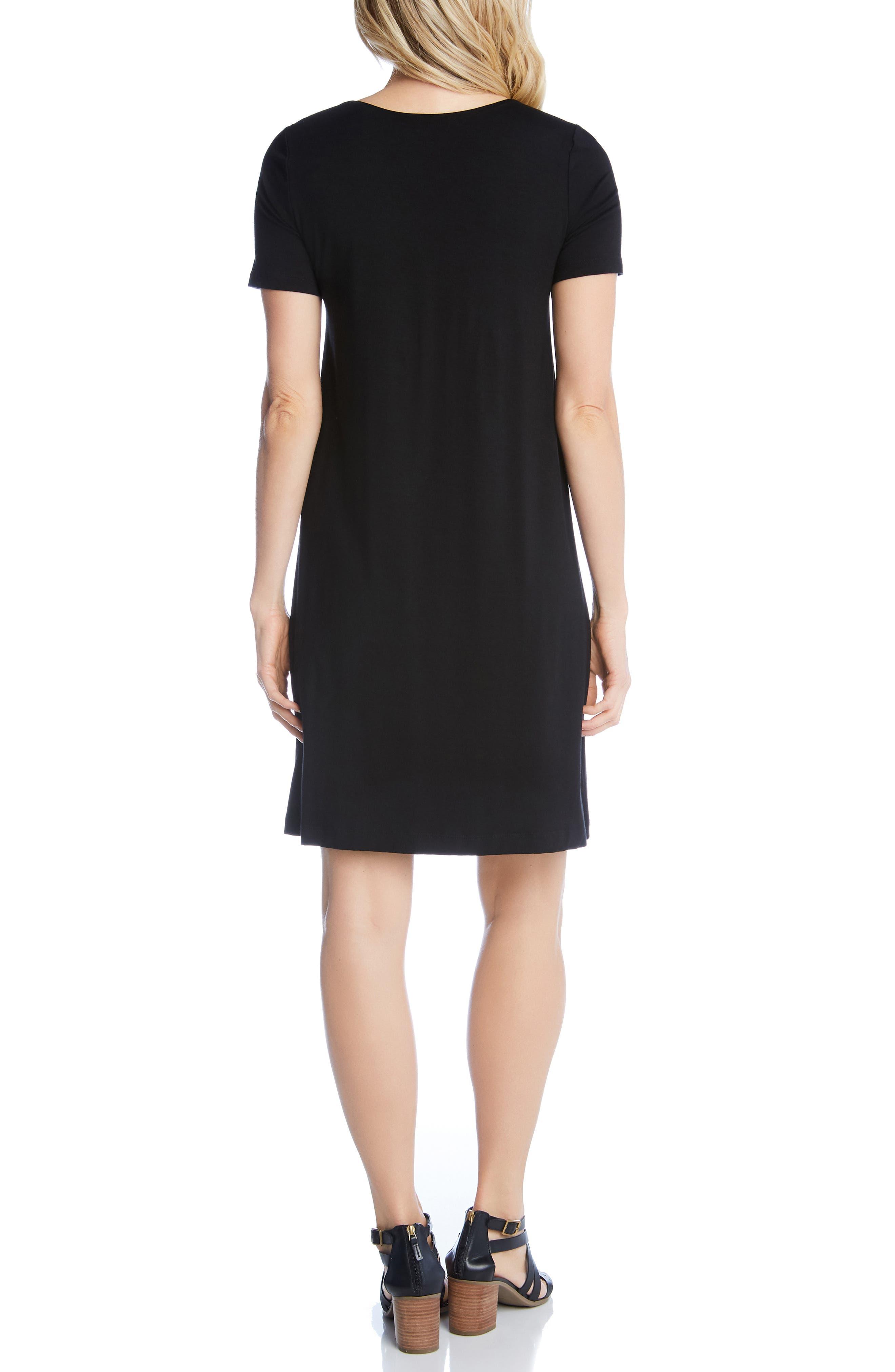 KAREN KANE, Abby T-Shirt Dress, Alternate thumbnail 2, color, BLACK