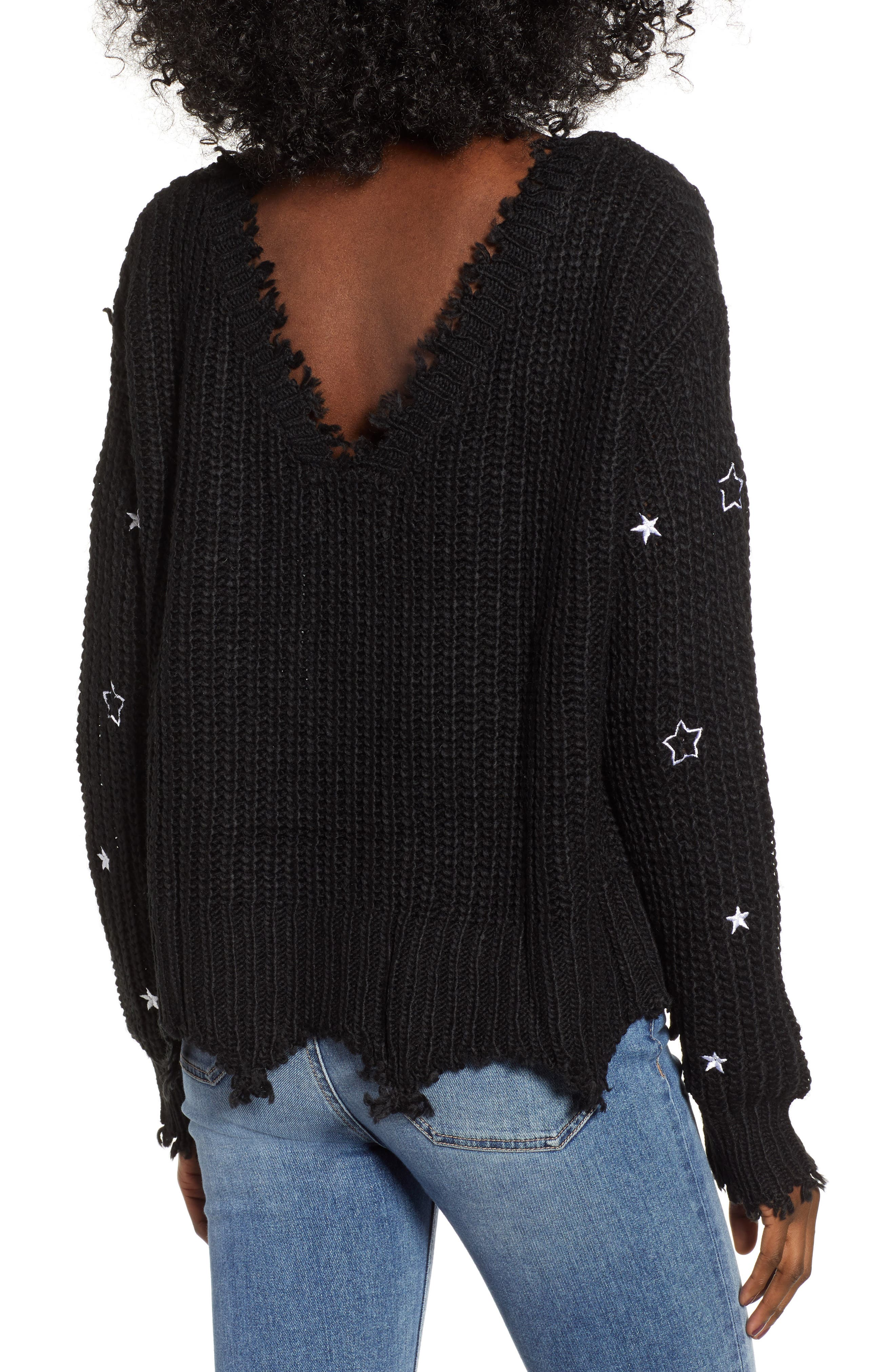 4SI3NNA, Star Sweater, Alternate thumbnail 2, color, 001