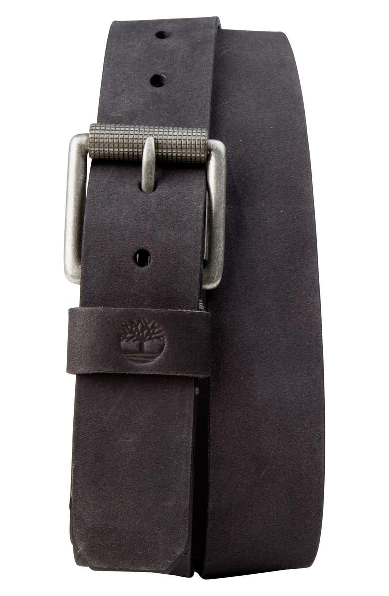 7bfb9413686 TIMBERLAND Leather Belt, Main, color, BLACK