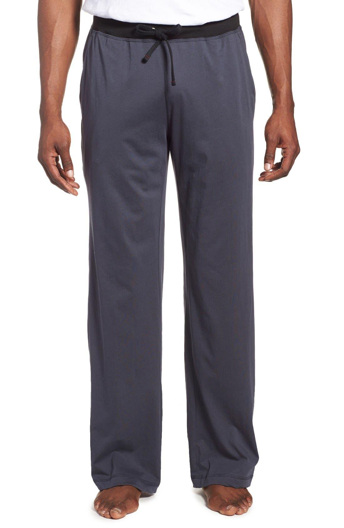 DANIEL BUCHLER Peruvian Pima Cotton Lounge Pants, Main, color, INK