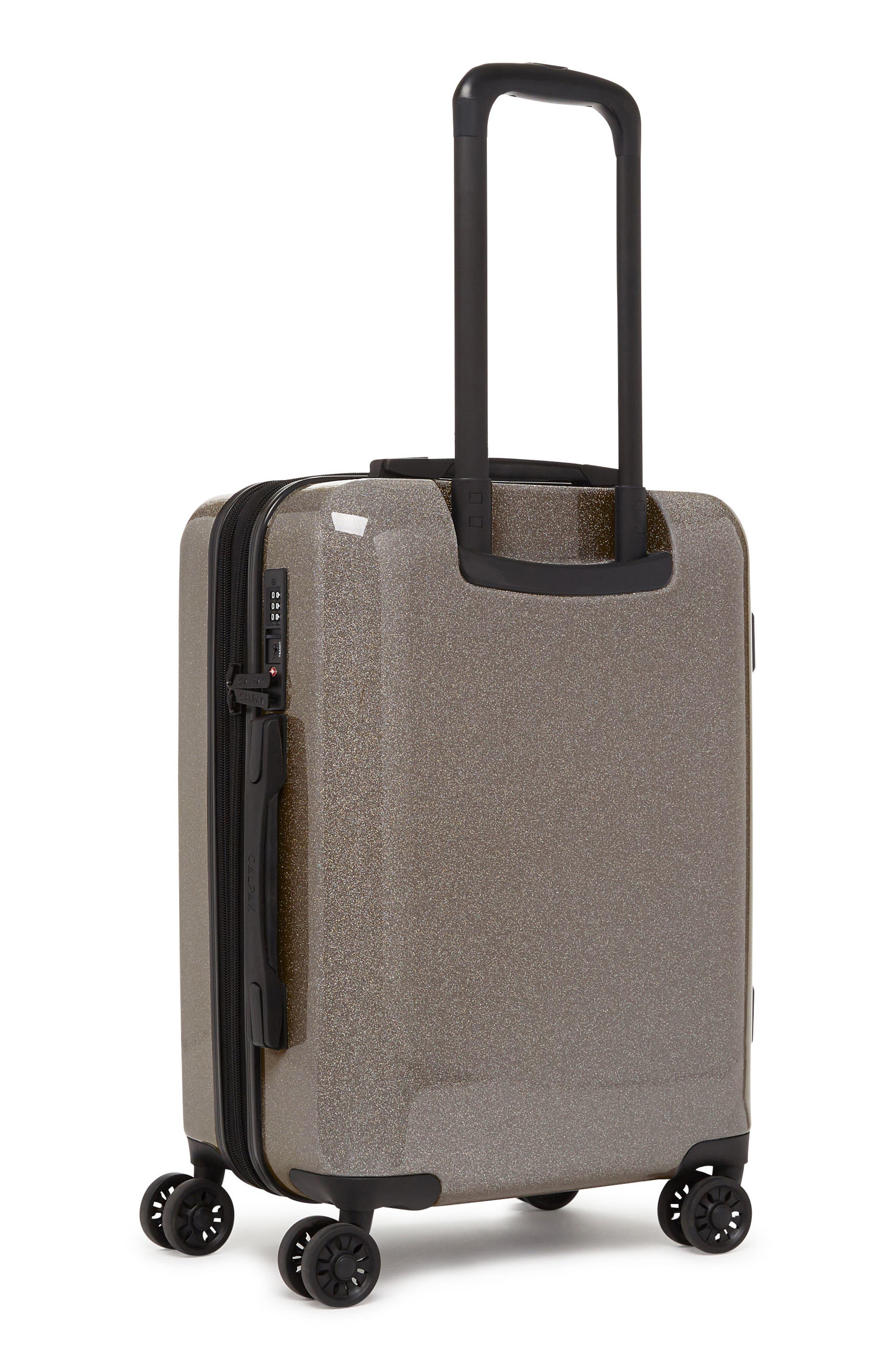 CALPAK, Medora Glitter 20-Inch Hardshell Spinner Carry-On Suitcase, Alternate thumbnail 3, color, ECLIPSE