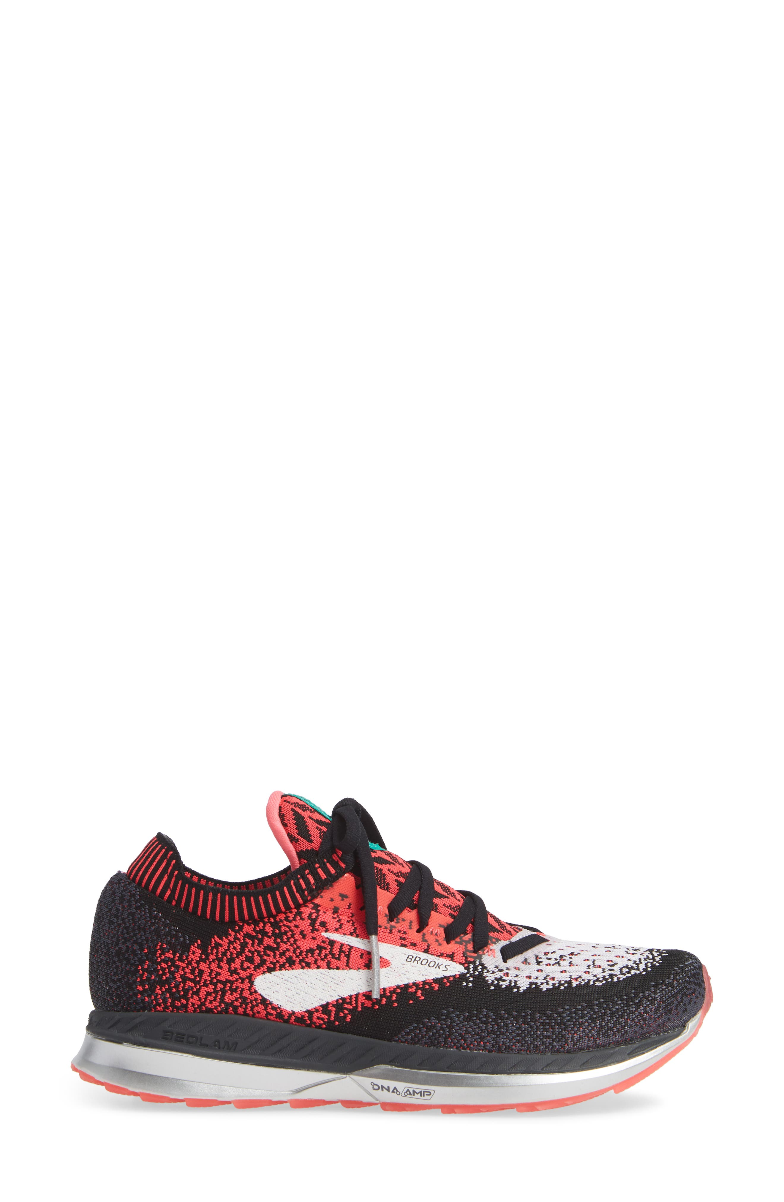BROOKS, Bedlam Running Shoe, Alternate thumbnail 3, color, PINK/ BLACK/ WHITE