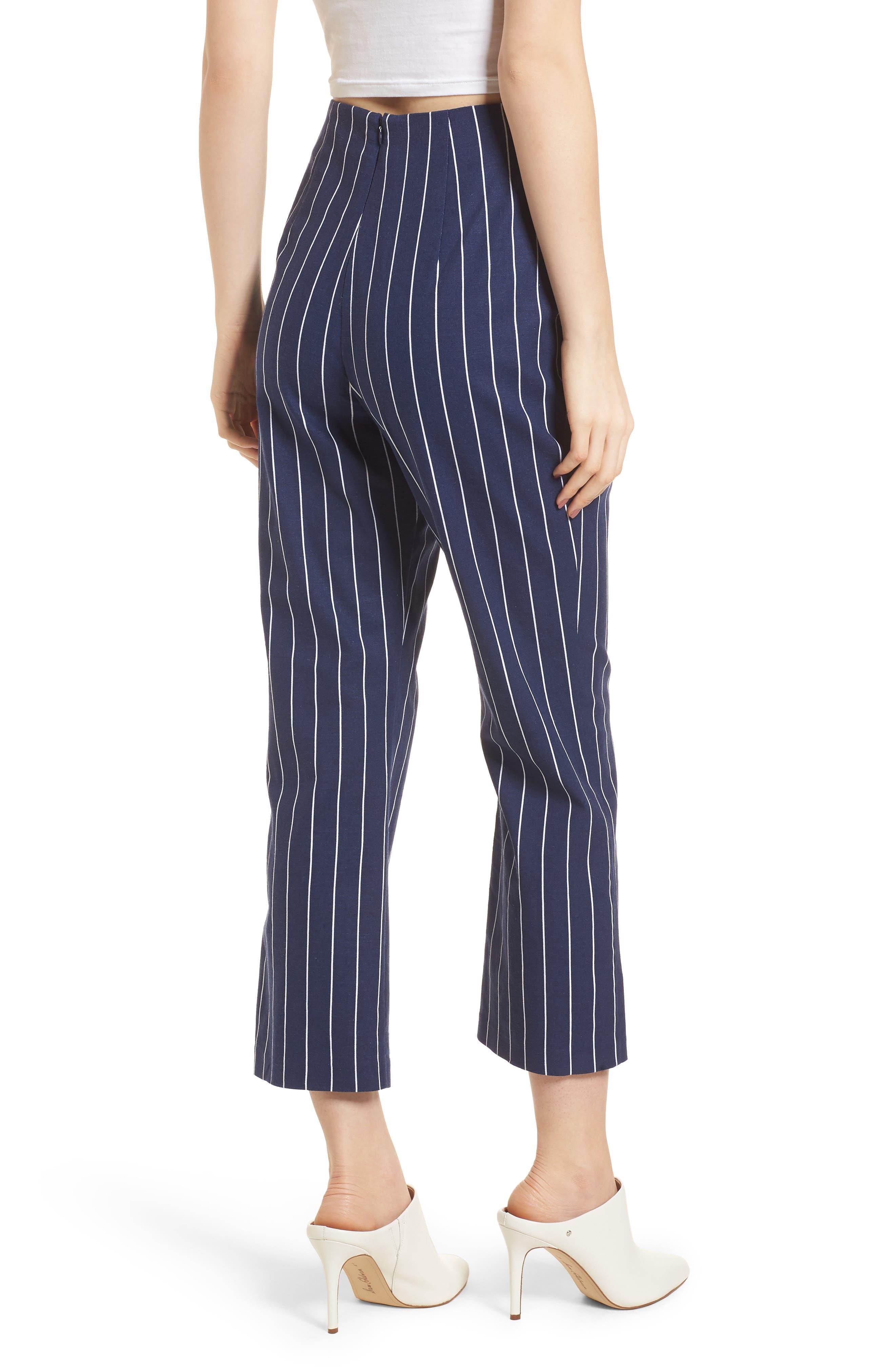 WAYF, Pisa High Waist Crop Pants, Alternate thumbnail 2, color, 400