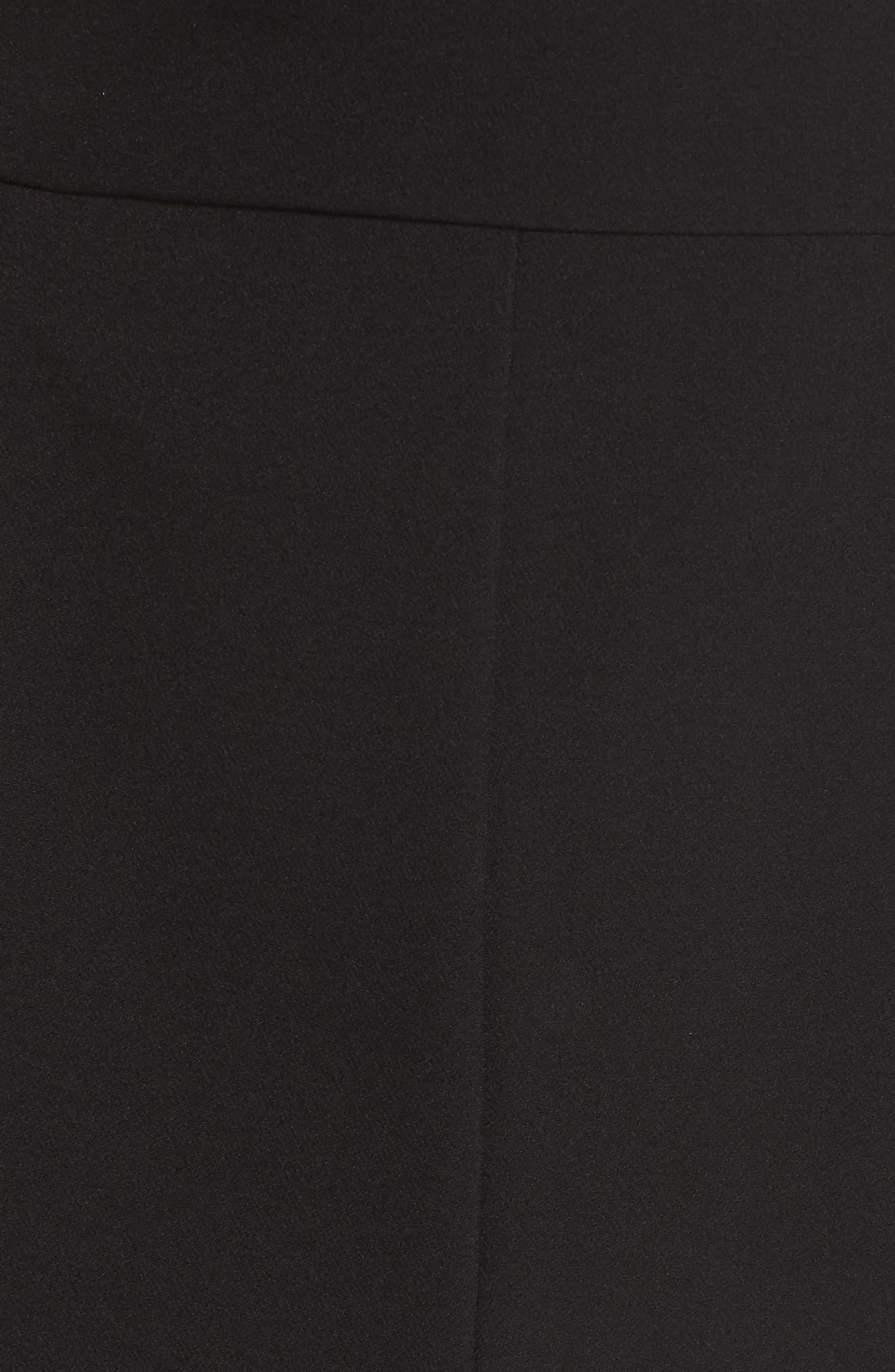 ELIZA J, Tuxedo Jumpsuit, Alternate thumbnail 6, color, BLACK