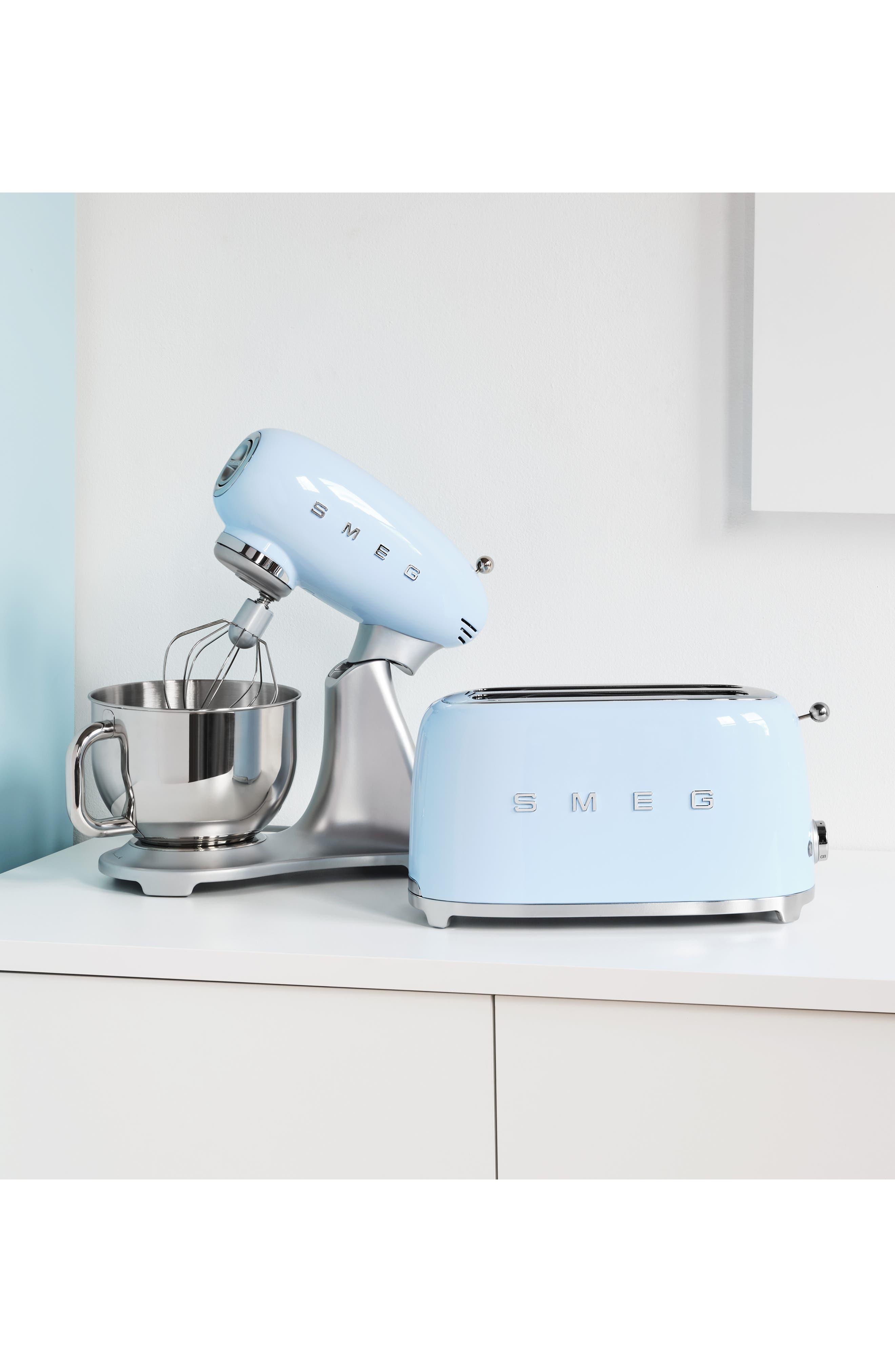 SMEG, 50s Retro Style Four-Slice Toaster, Alternate thumbnail 7, color, PASTEL BLUE
