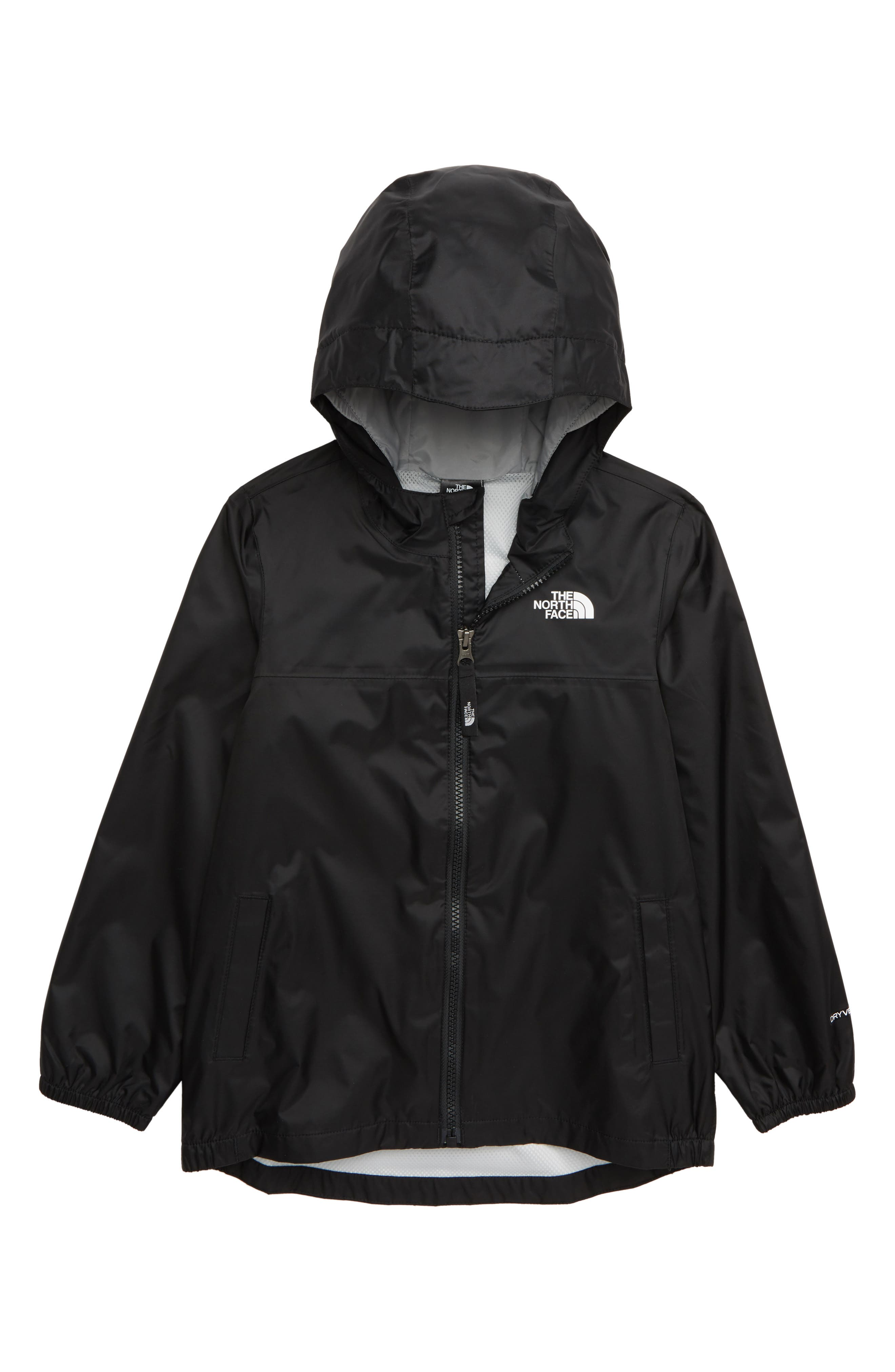 THE NORTH FACE Zipline Hooded Rain Jacket, Main, color, TNF BLACK