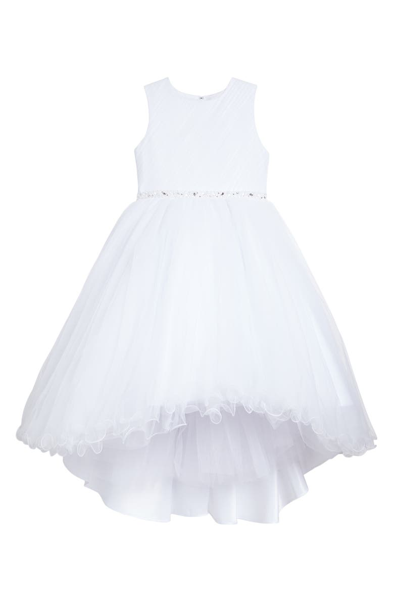 faa537794bbf JOAN CALABRESE FOR MON CHERI Sleeveless Tulle First Communion Dress, Main,  color, 100