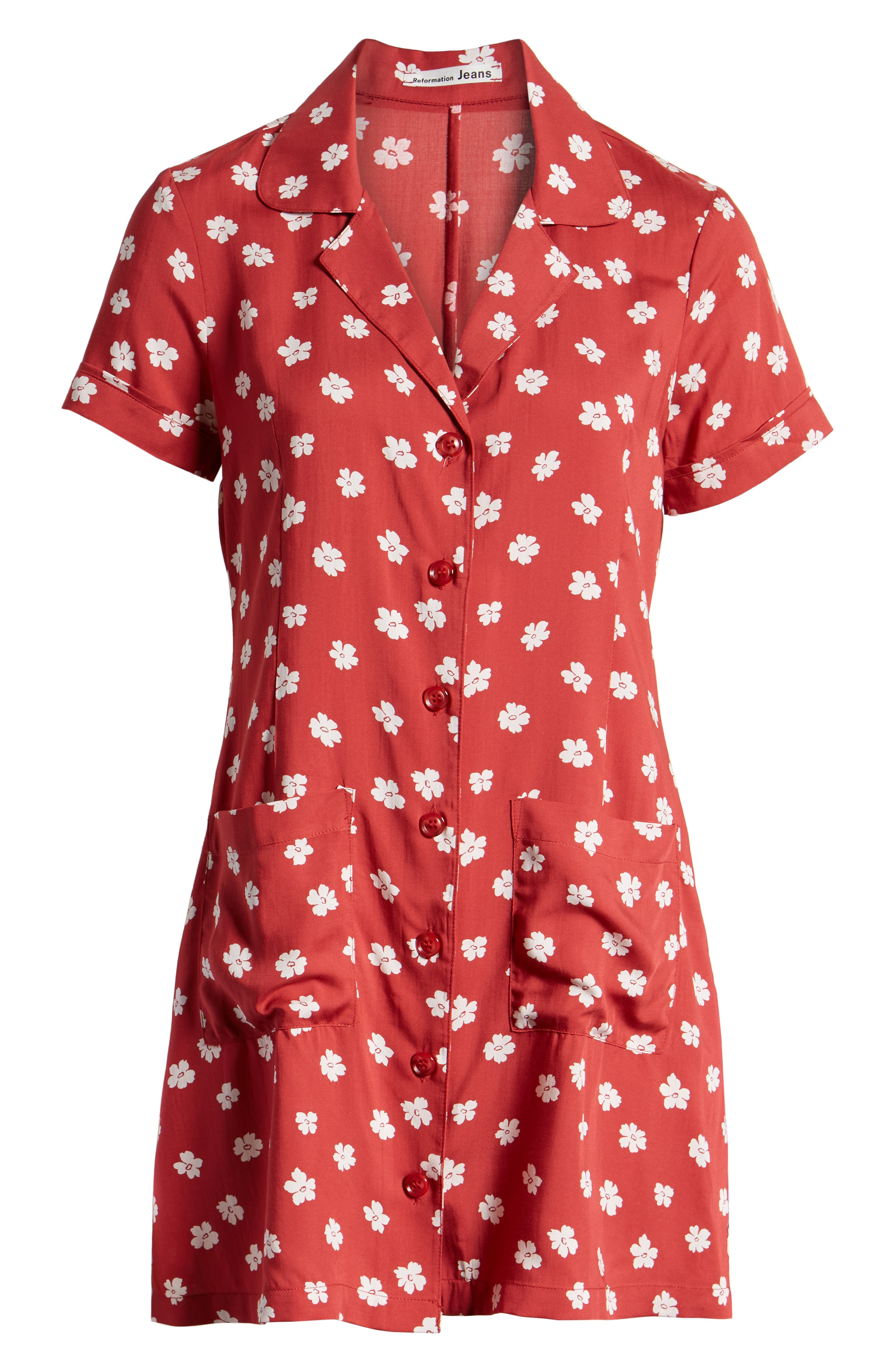 REFORMATION, Plymouth Shirtdress, Alternate thumbnail 7, color, DELIA