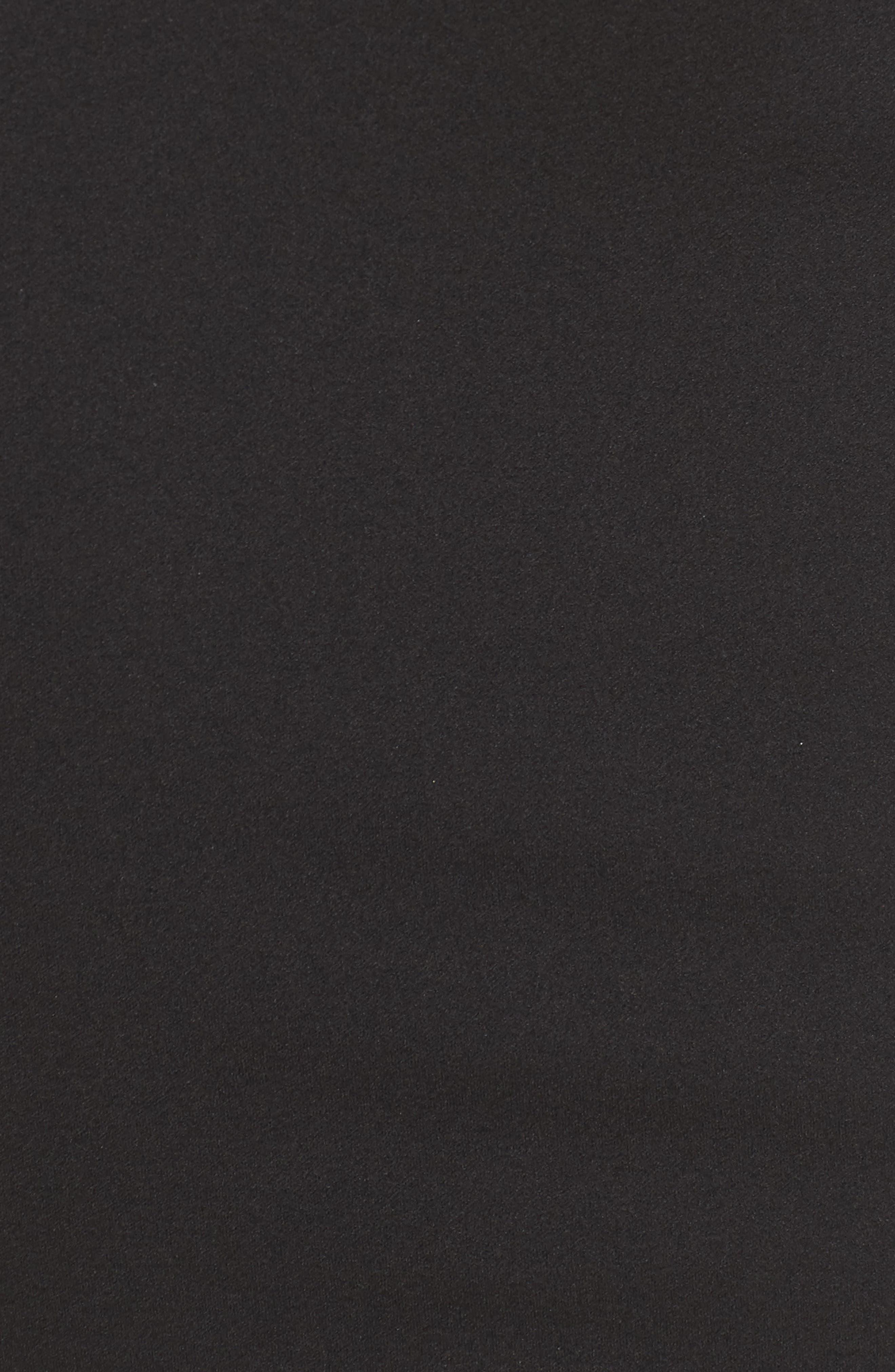 SOPRANO, Ruffle Off the Shoulder Body-Con Dress, Alternate thumbnail 6, color, 001