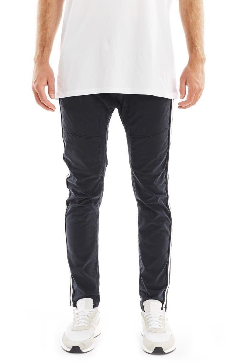 Nxp Baseline Side Stripe Skinny Fit Pants In Black Modesens