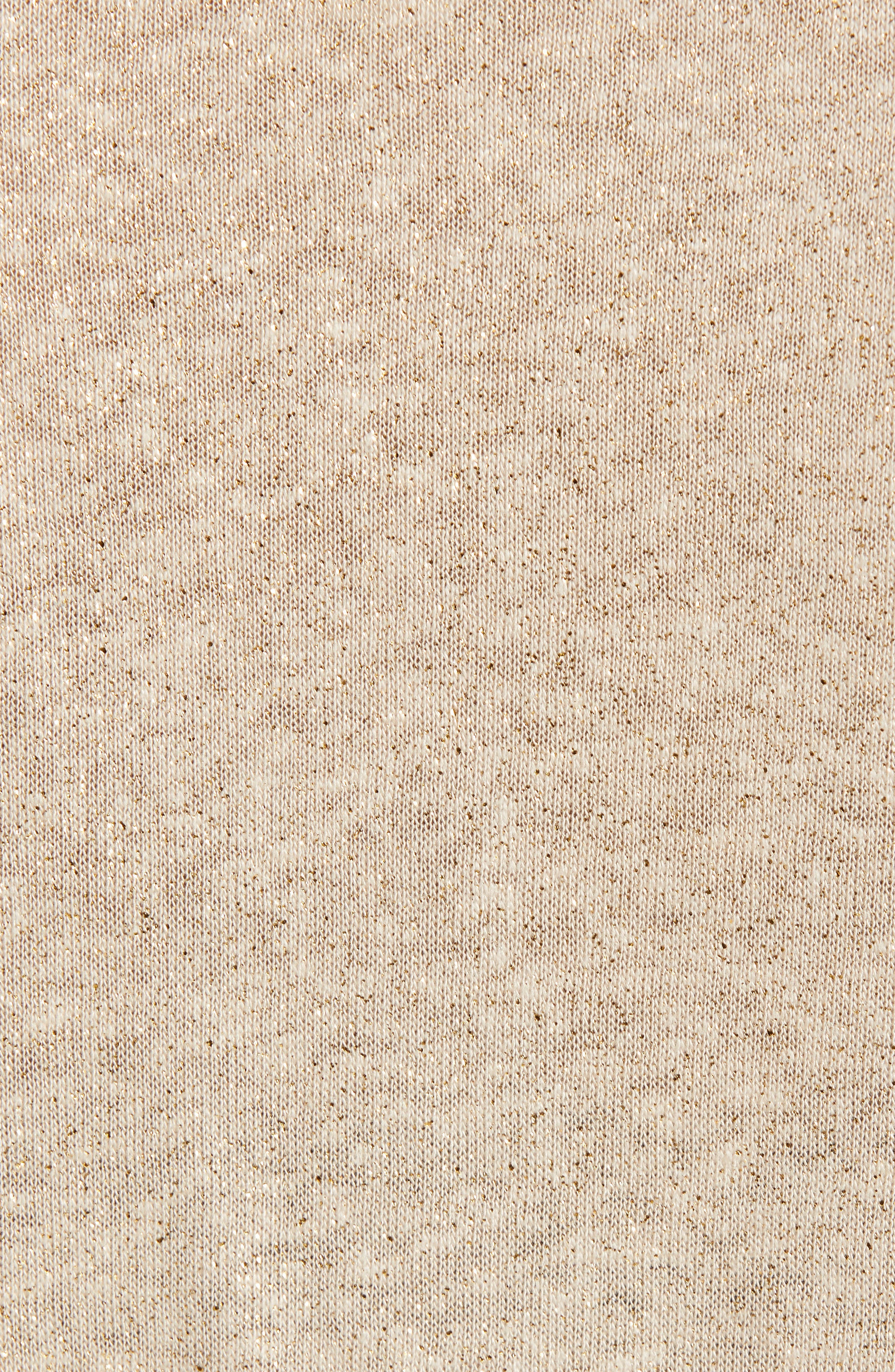 CASLON<SUP>®</SUP>, Caslon Knot Front Metallic Thread Top, Alternate thumbnail 5, color, TAN SHIMMER