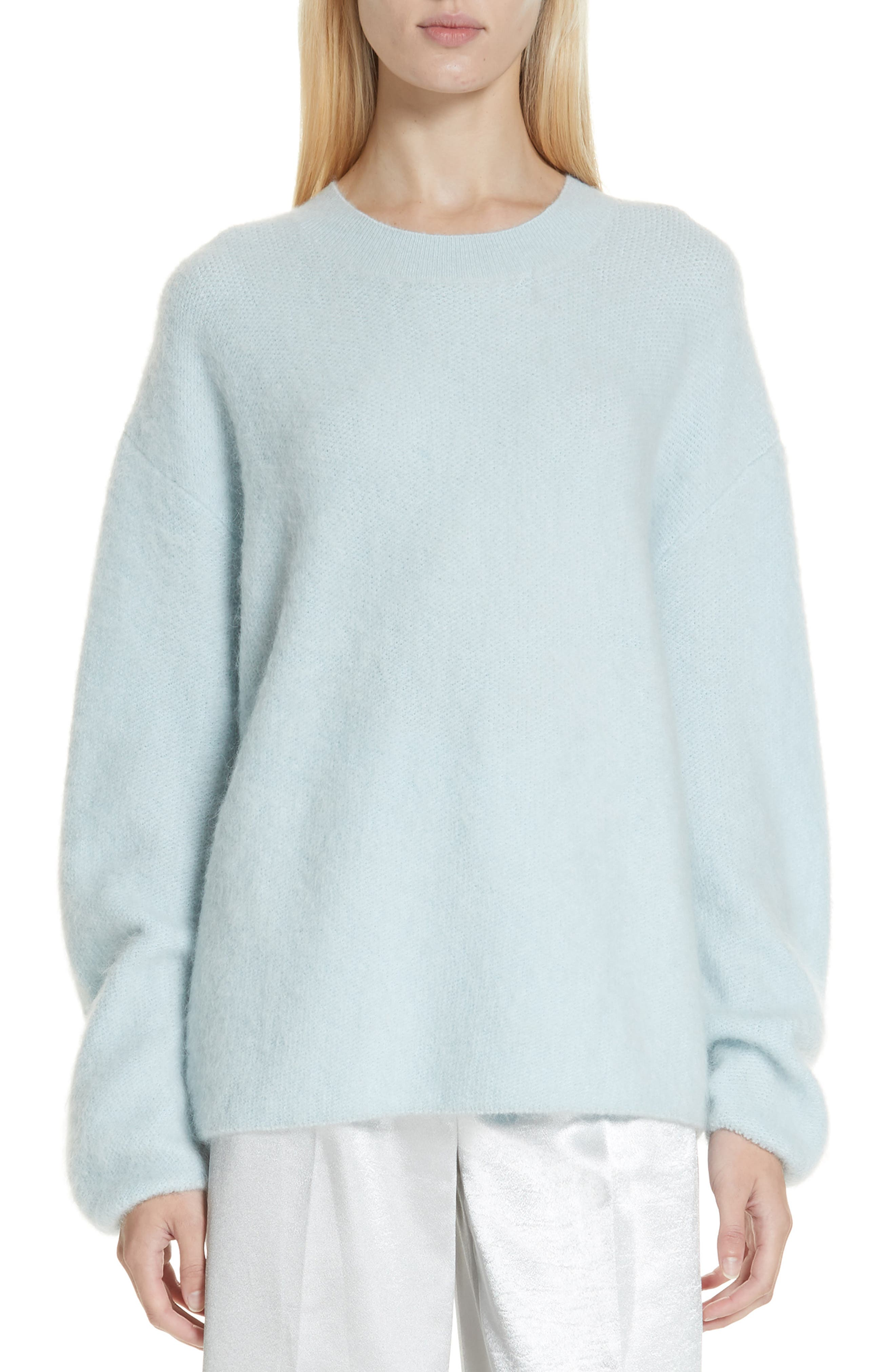 VINCE, Oversize Sweater, Main thumbnail 1, color, ICE/ BLUE