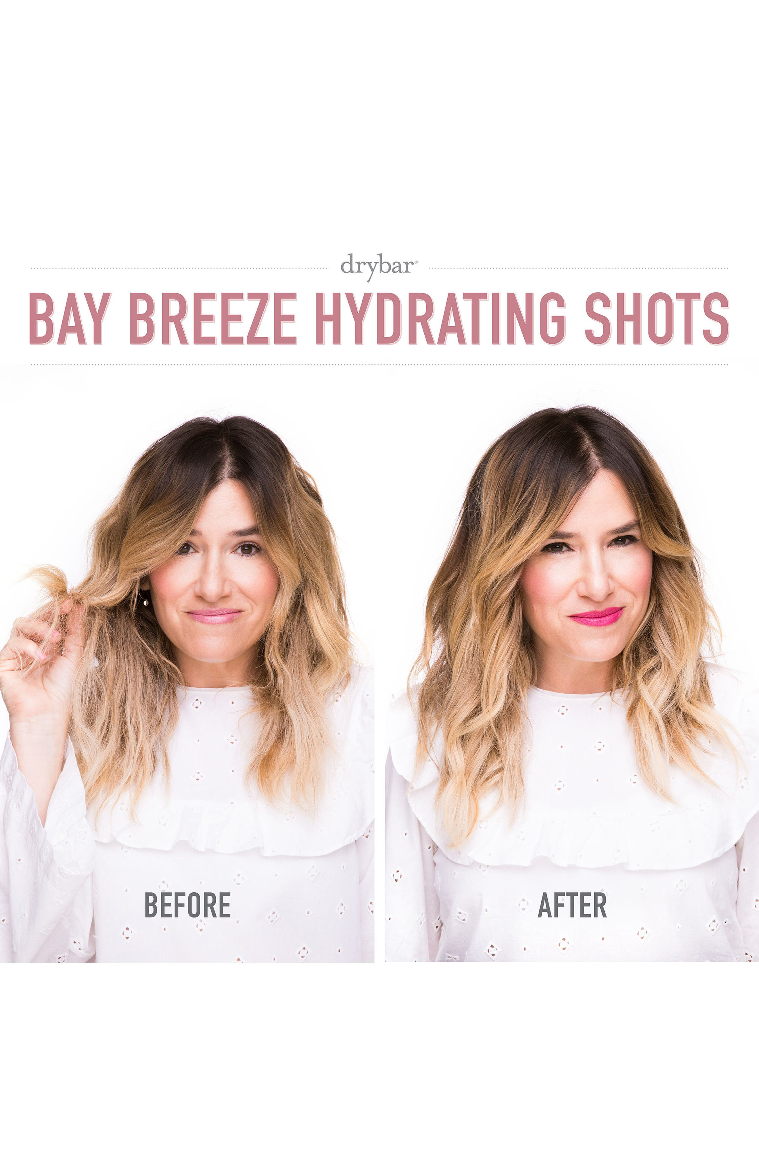 DRYBAR, Bay Breeze Set of 4 Hydrating Shots, Alternate thumbnail 7, color, NO COLOR