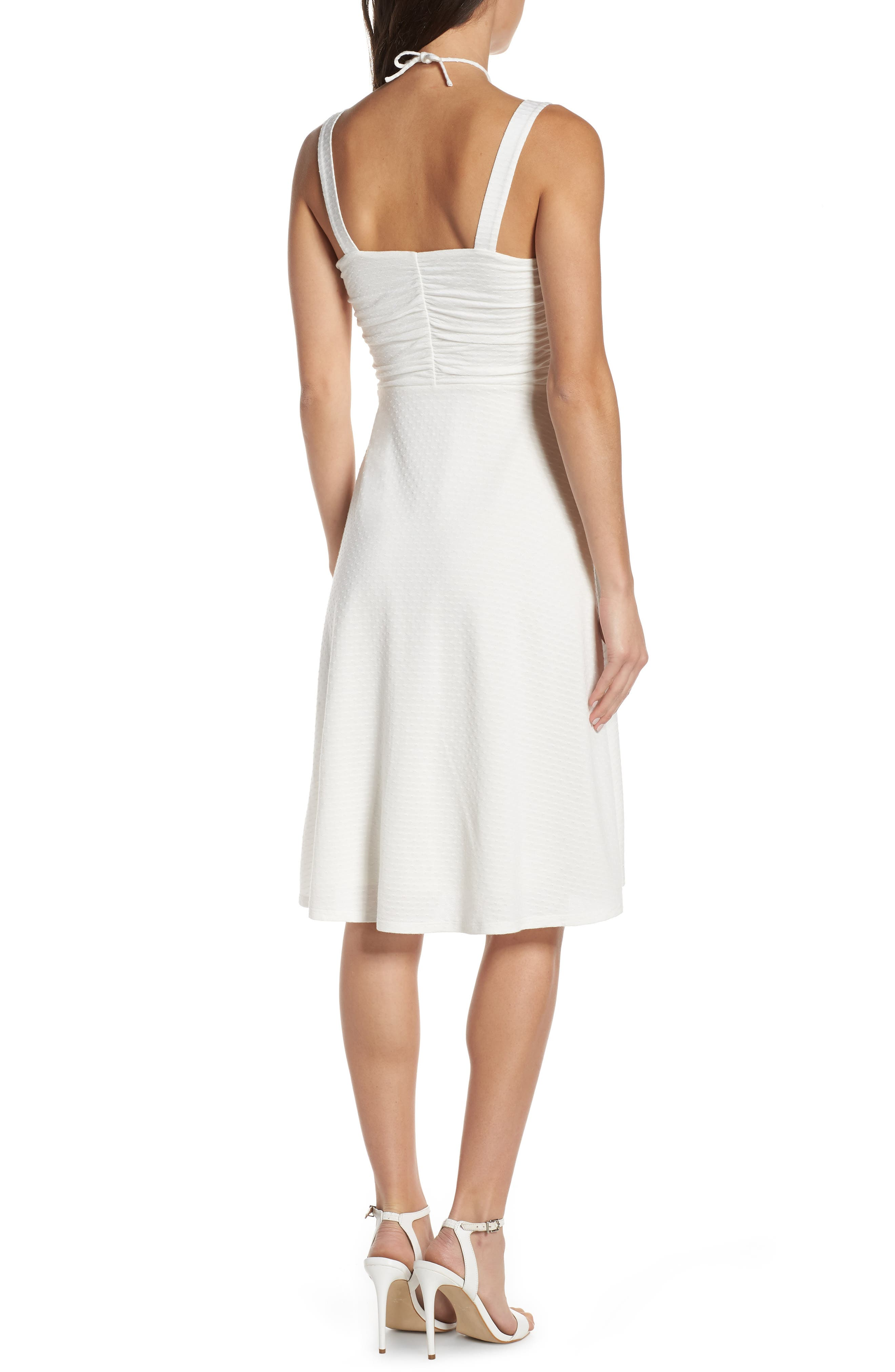 ALI & JAY, Smell the Flowers Fit & Flare Dress, Alternate thumbnail 2, color, WHITE