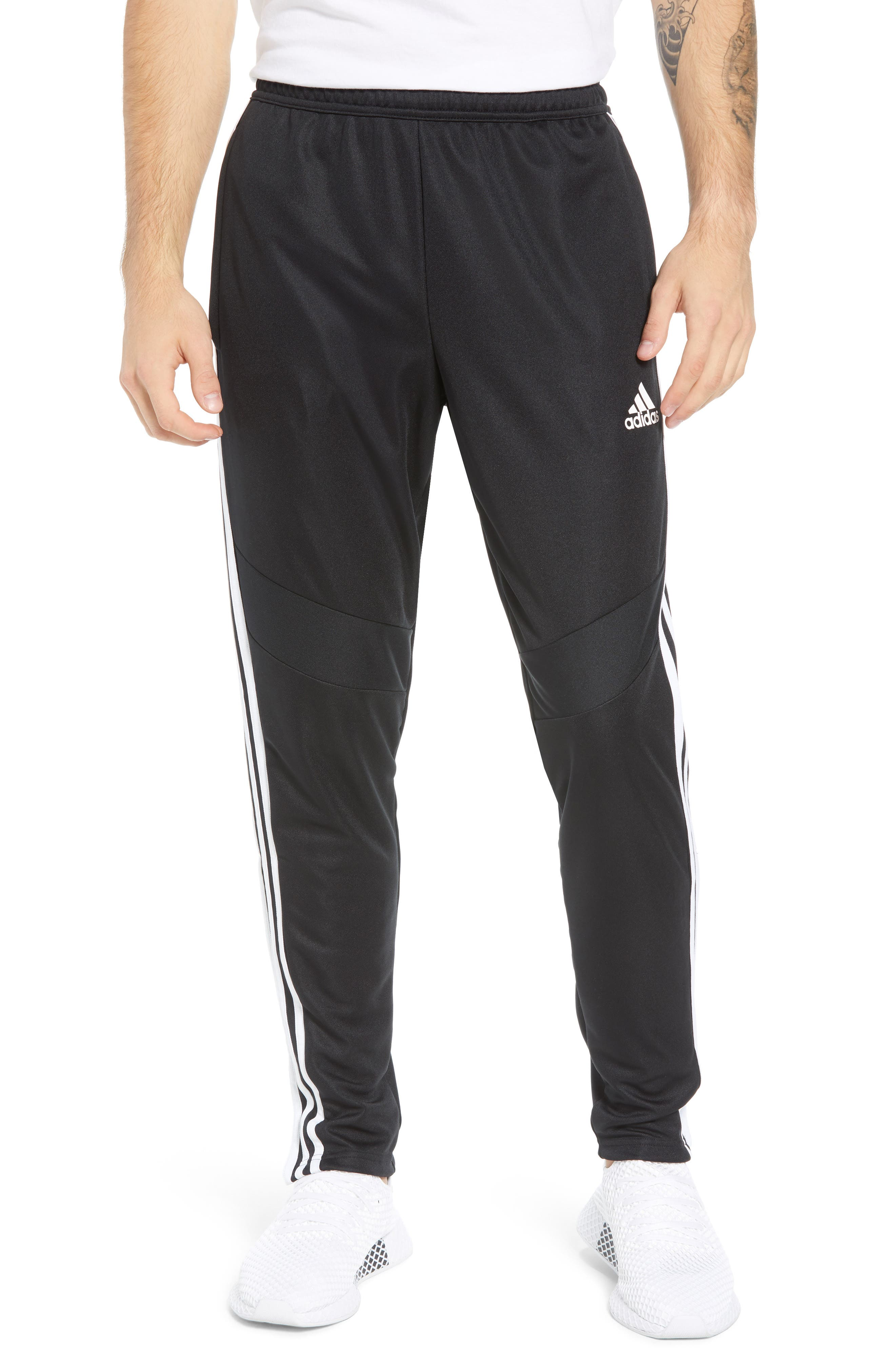 ADIDAS, Tiro Soccer Training Pants, Main thumbnail 1, color, BLACK/ WHITE