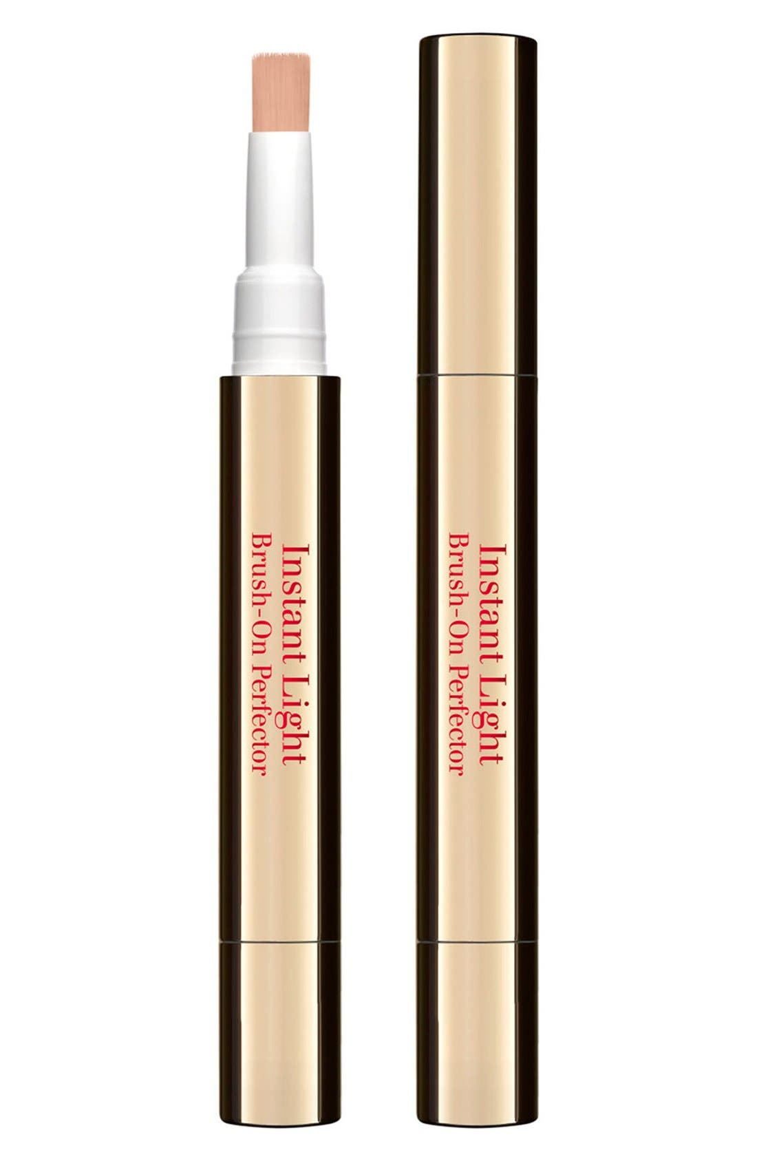 CLARINS, Instant Light Brush-On Perfector, Alternate thumbnail 2, color, 00 LIGHT BEIGE