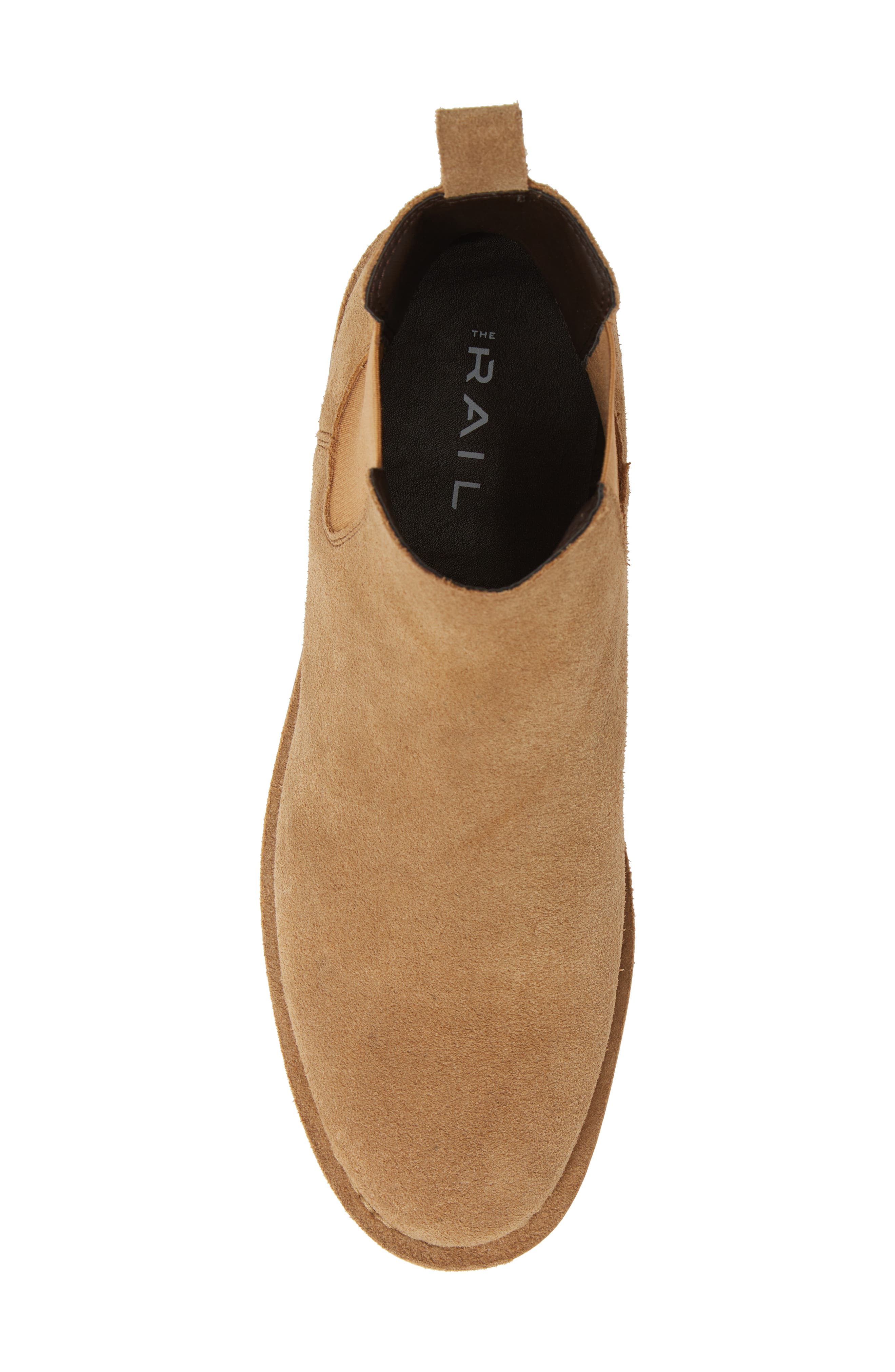 THE RAIL, Payson Chelsea Boot, Alternate thumbnail 5, color, SAND SUEDE
