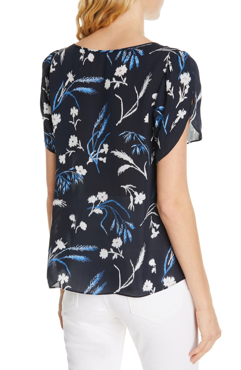 5e0a5ab88f88d6 Joie Wira Floral-Print Silk Top In Midnight | ModeSens