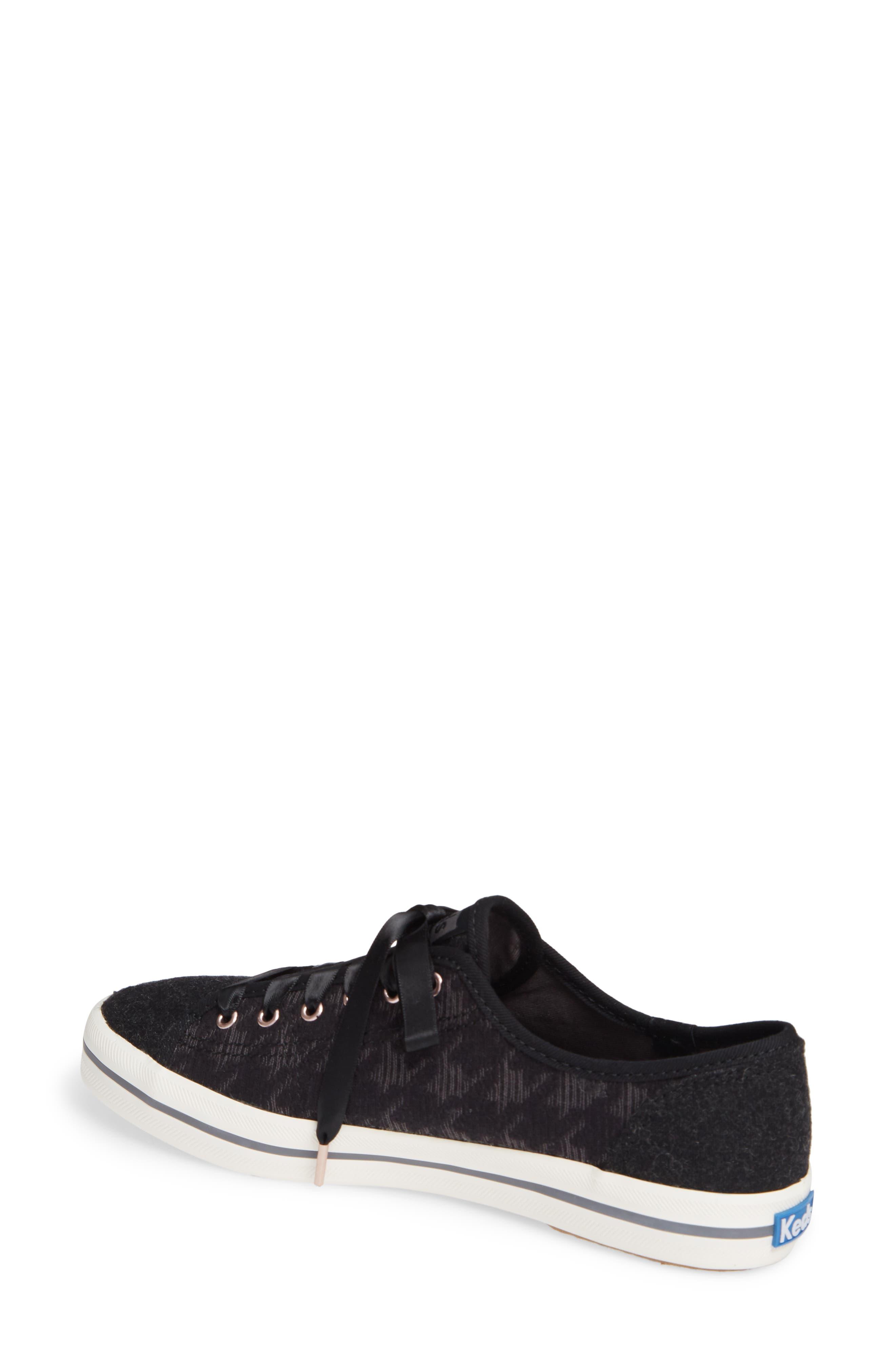 KEDS<SUP>®</SUP>, Kickstart Sneaker, Alternate thumbnail 2, color, BLACK HOUNDSTOOTH